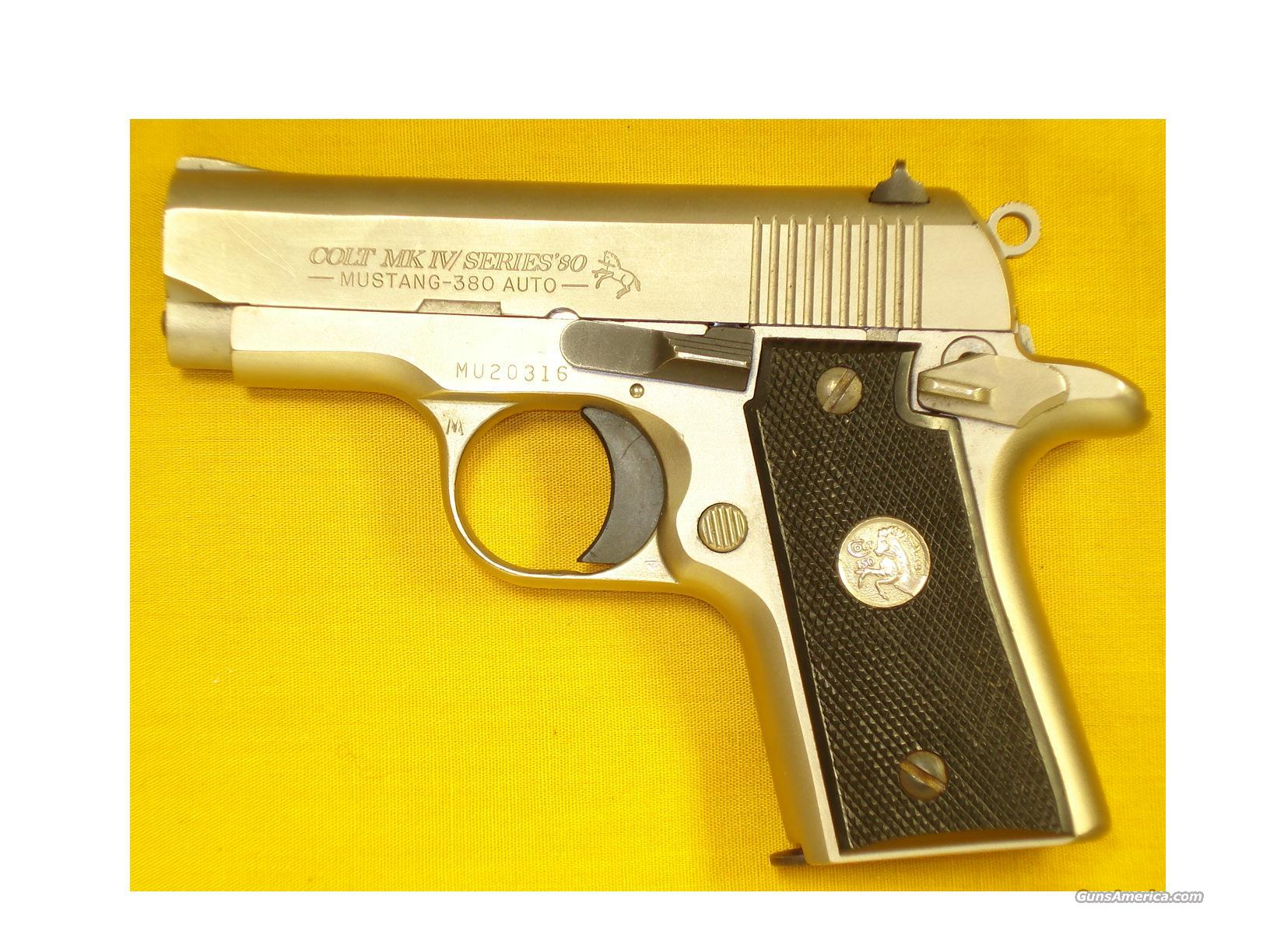 "COLT MUSTANG .380 2 3/4"" ELECTROLESS NICKEL  Guns > Pistols > Colt Automatic Pistols (.25, .32, & .380 cal)"