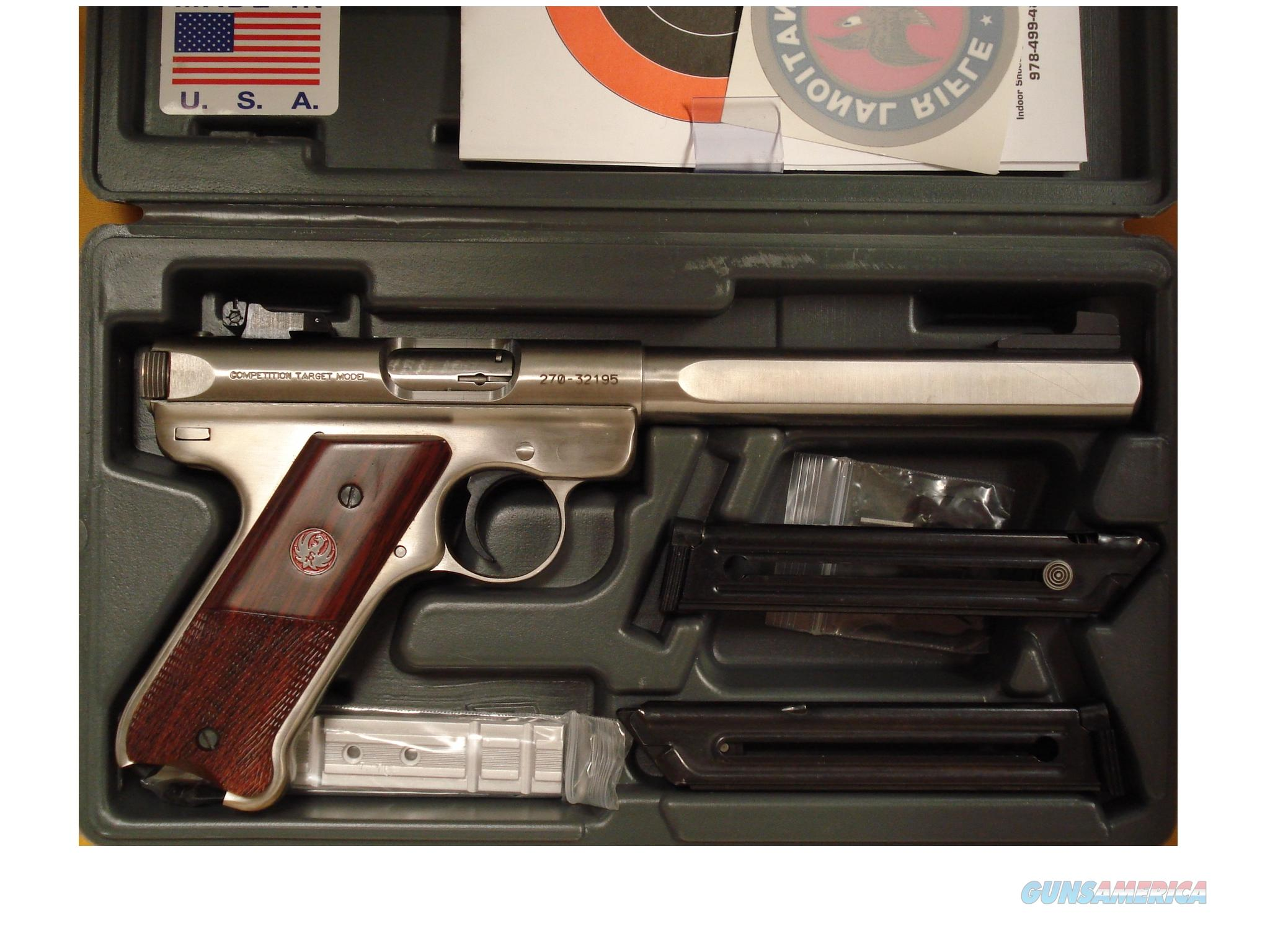 "RUGER MKIII COMPETITIONTARGET .22LR 6 3/4"" BARREL  Guns > Pistols > Ruger Semi-Auto Pistols > Mark I & II Family"