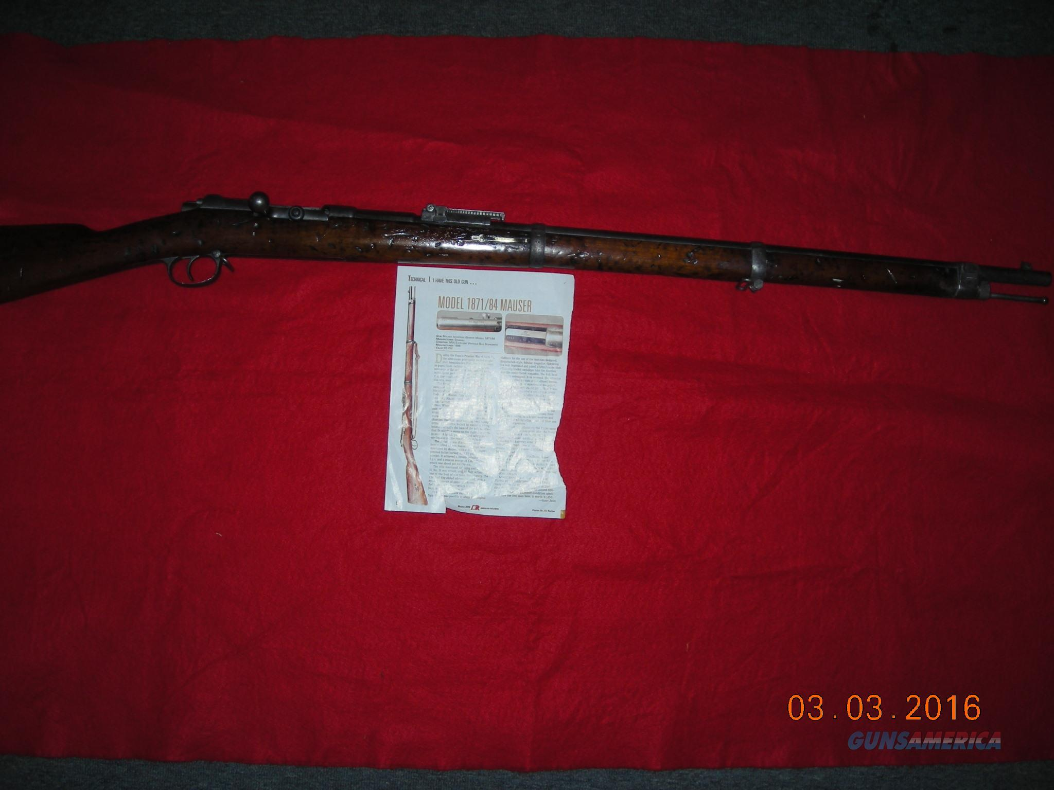 MAUSER 18/71  Guns > Rifles > Mauser Rifles > German