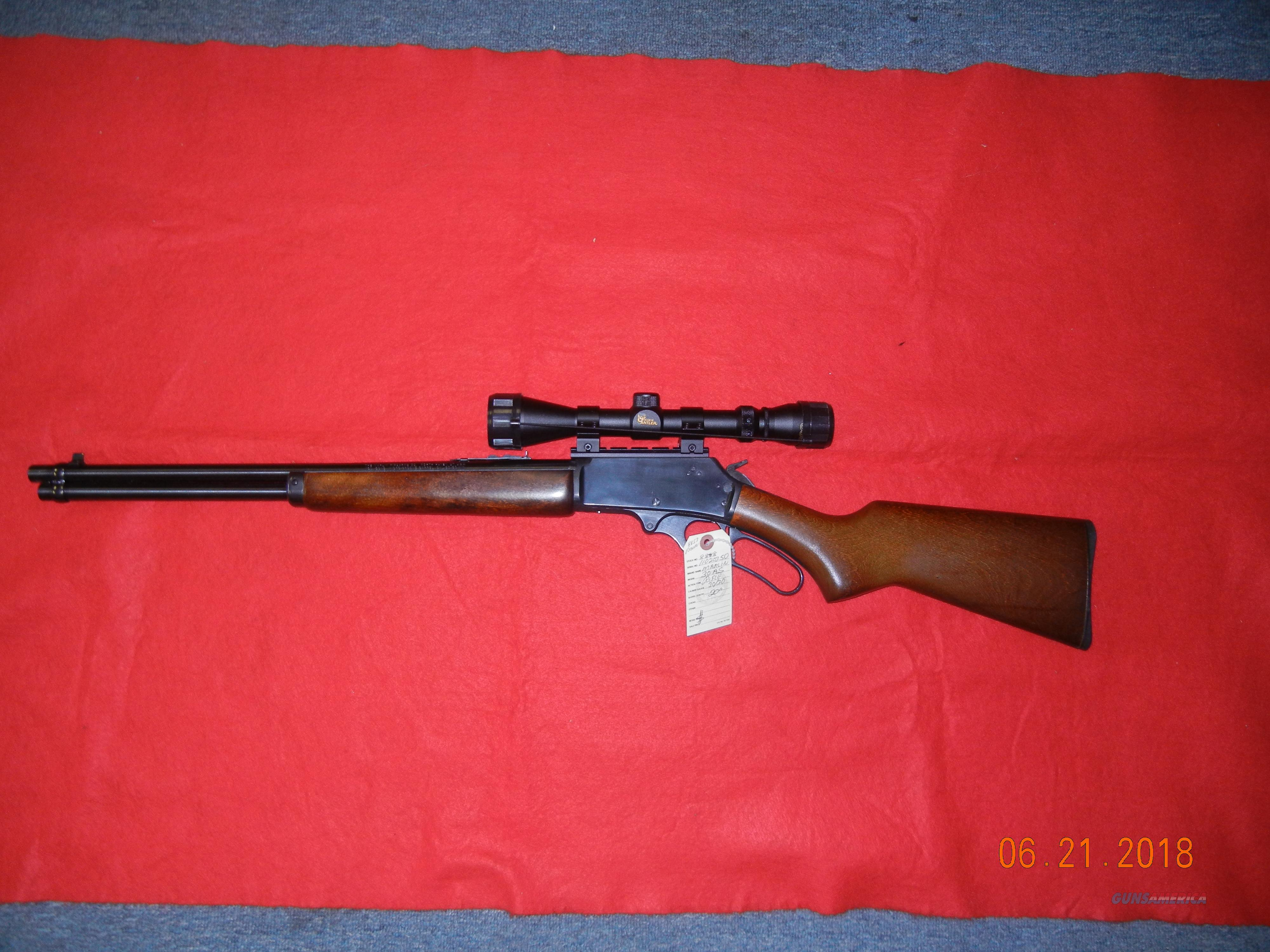 MARLIN MODEL 30AS 30/30 W/SCOPE  Guns > Rifles > Marlin Rifles > Modern > Lever Action