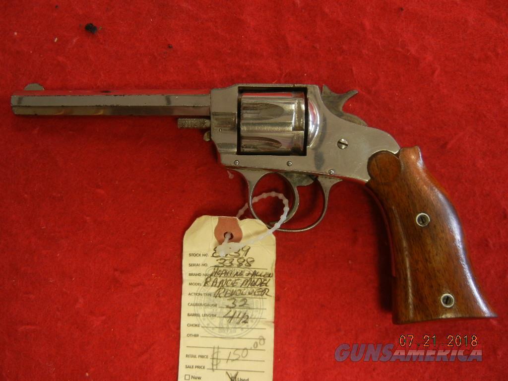 HOPKINS AND ALLEN RANGE MODEL   Guns > Pistols > Hopkins & Allen Pistols