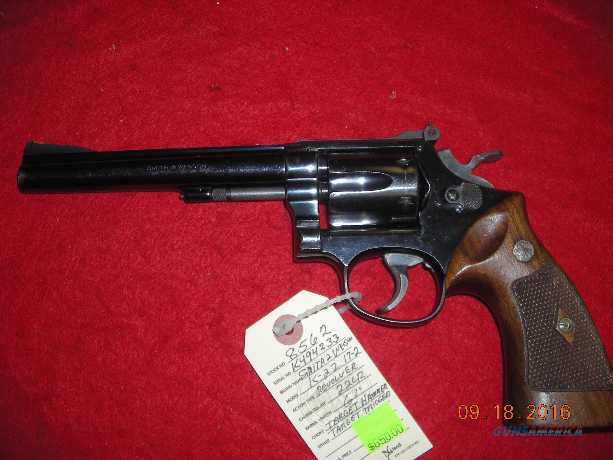 SMITH AND WESSON K 17-2  Guns > Pistols > Smith & Wesson Revolvers > Med. Frame ( K/L )
