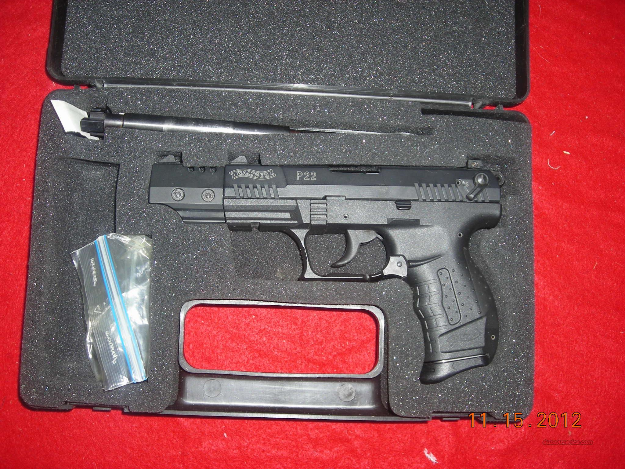 WALTHER P-22   Guns > Pistols > Smith & Wesson Pistols - Autos > Polymer Frame