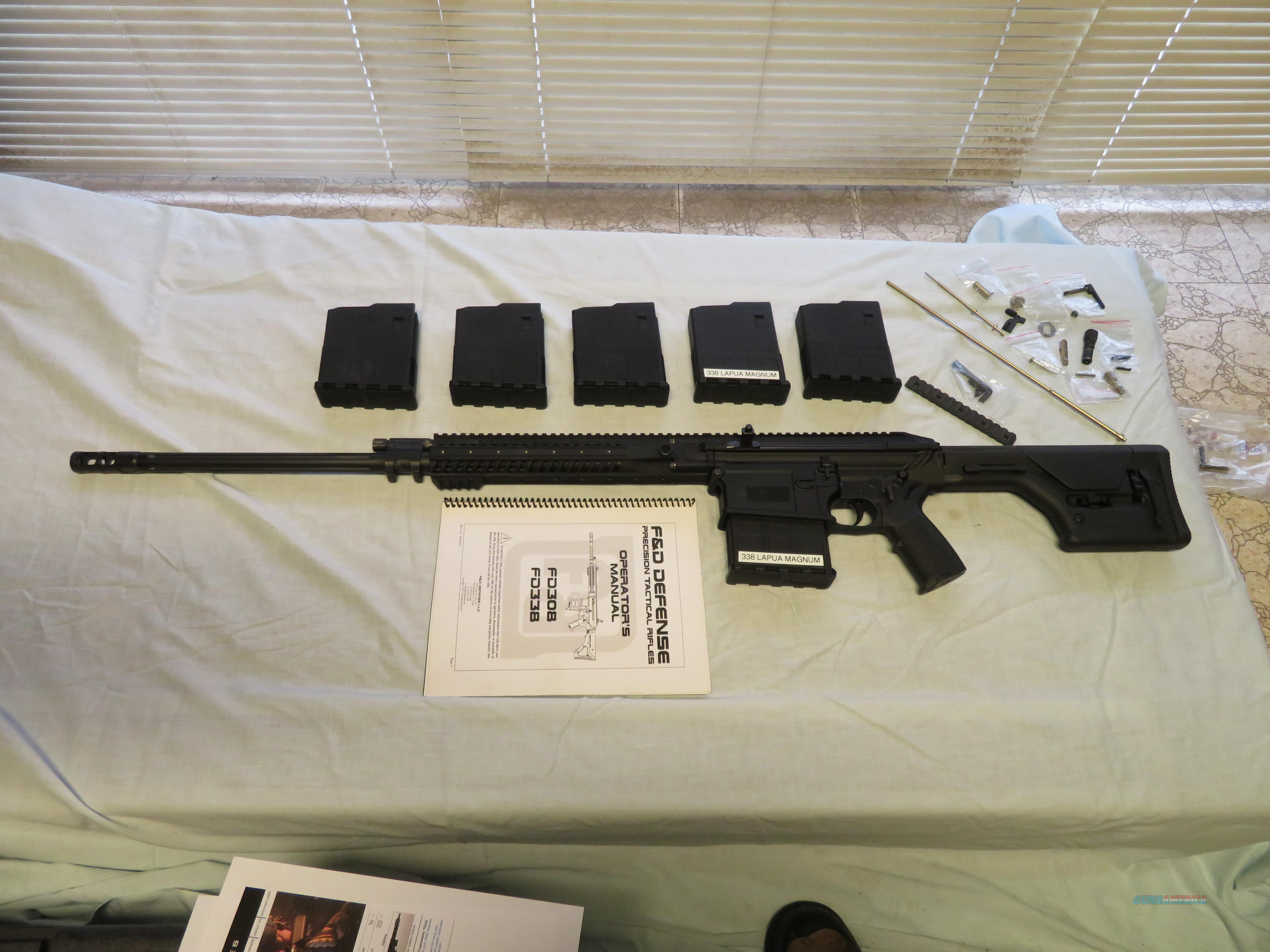 F&D Defense Precision Tactical Rifle 338 Lapua caliber MUST SELL !!  Guns > Rifles > F Misc Rifles