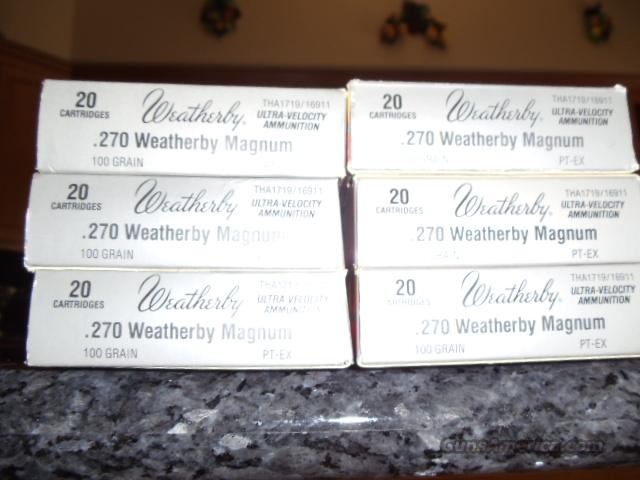 Weatherby .270 weatherby mag  Non-Guns > Ammunition