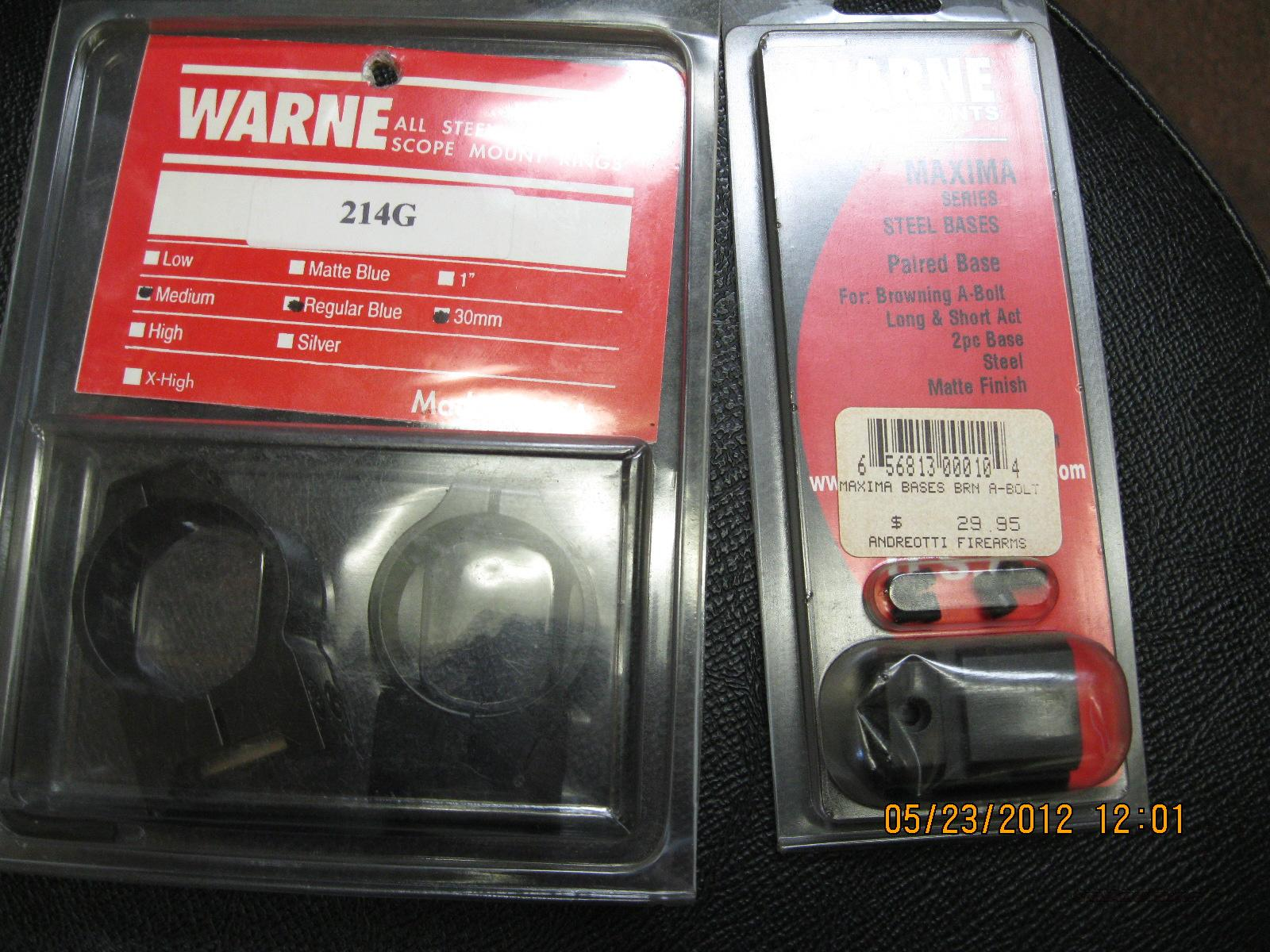 CLOSEOUT WARNE RINGS  Non-Guns > Scopes/Mounts/Rings & Optics > Mounts > Other