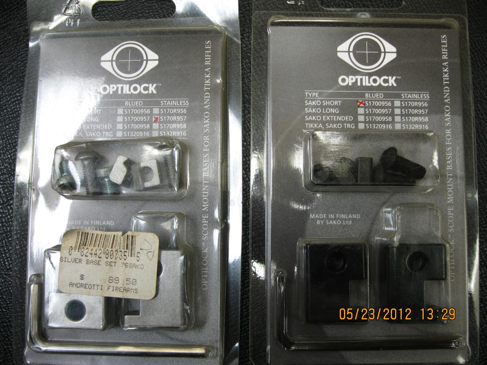 CLOSEOUT SAKO OPTILOCK   Non-Guns > Scopes/Mounts/Rings & Optics > Mounts > Other