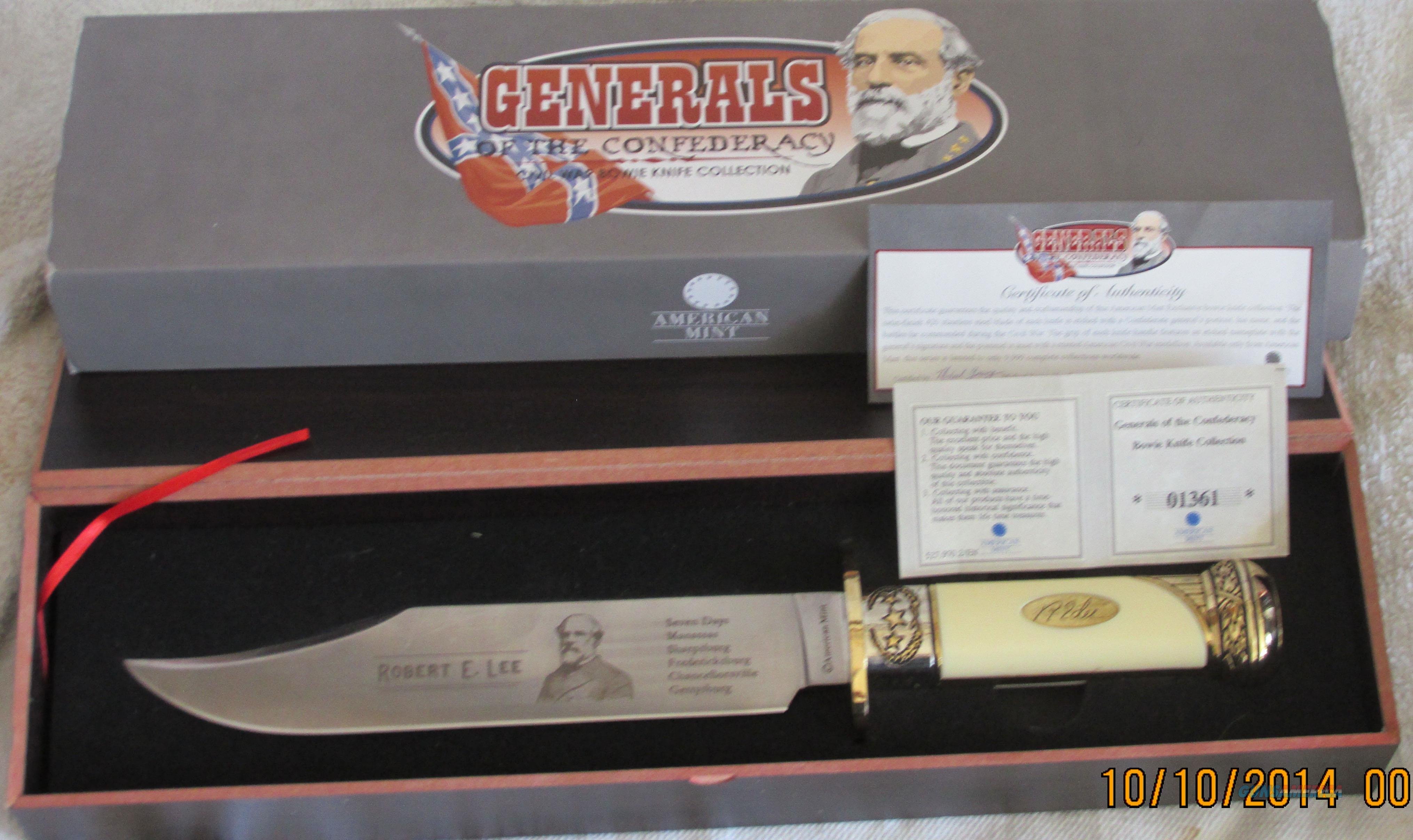 GENERALS OF THE CONFEDERACY  Non-Guns > Knives/Swords > Knives > Fixed Blade > Hand Made