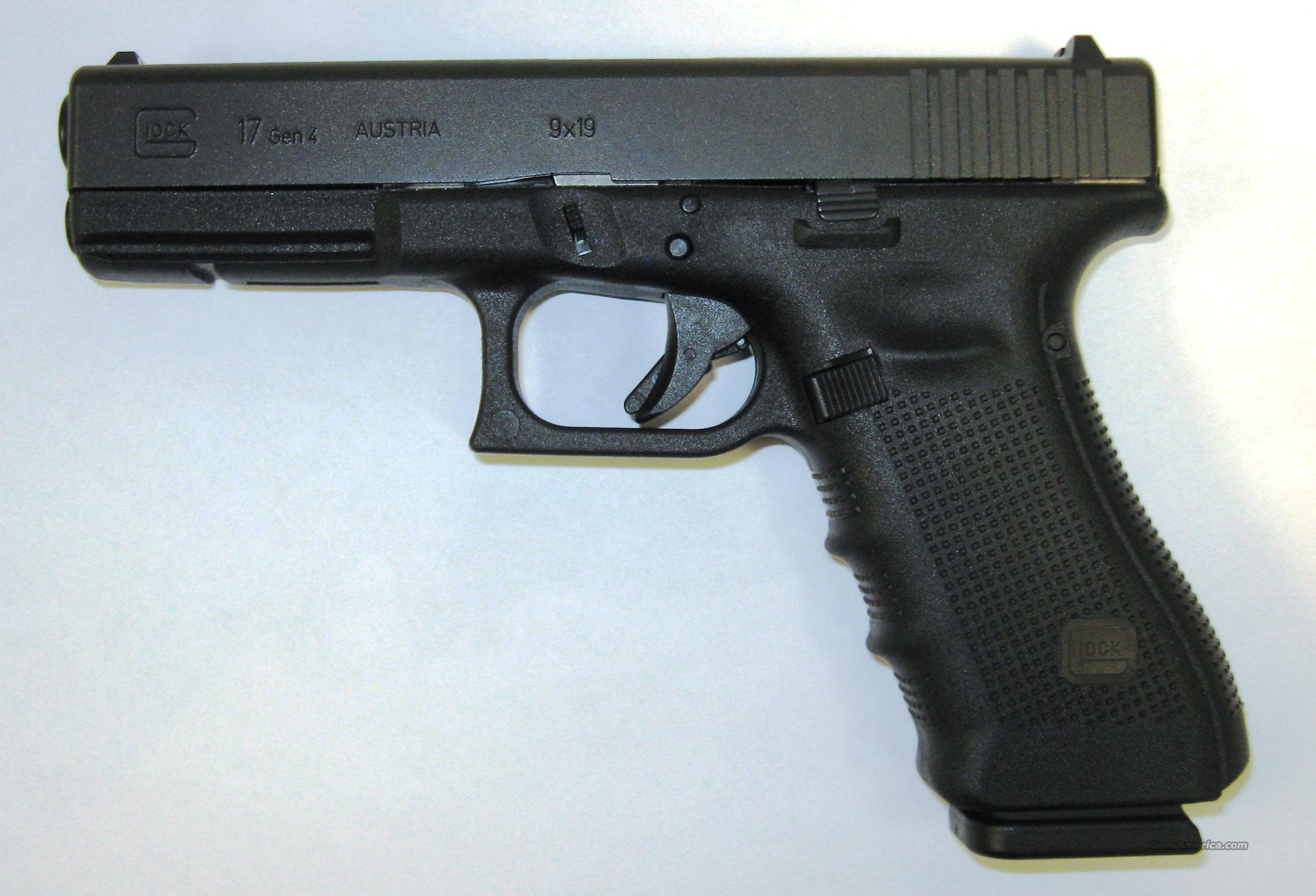 Glock 17 Gen 4 Black  Guns > Pistols > Glock Pistols > 17