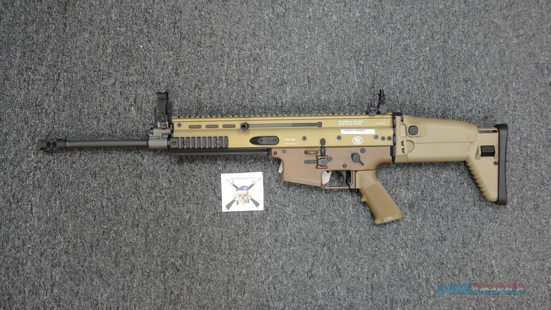 FNH SCAR 16S w/FDE Finish Guns > Pistols > FNH - Fabrique Nationale (FN) Rifles > Semi-auto > SCAR
