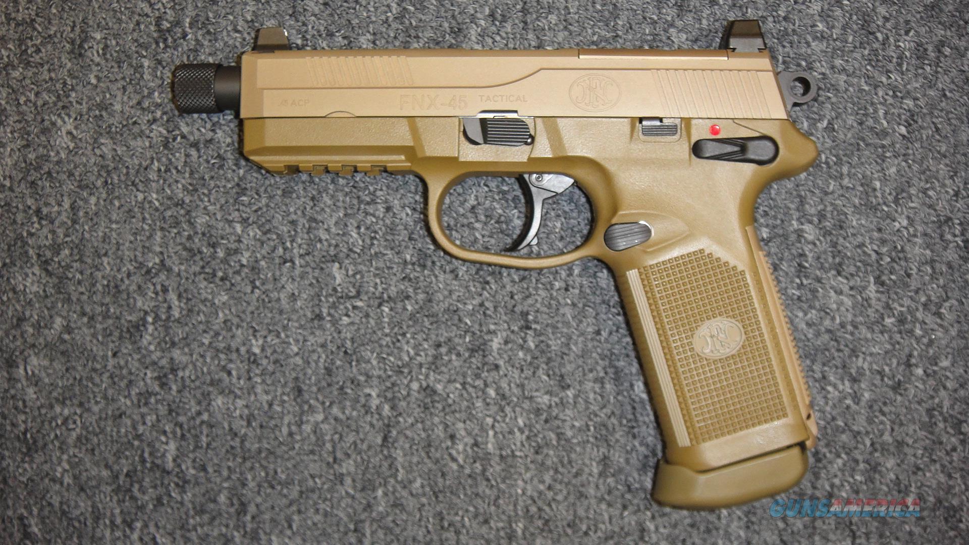 FNH FNX 45 Tactical FDE  Guns > Pistols > FNH - Fabrique Nationale (FN) Pistols > FNX