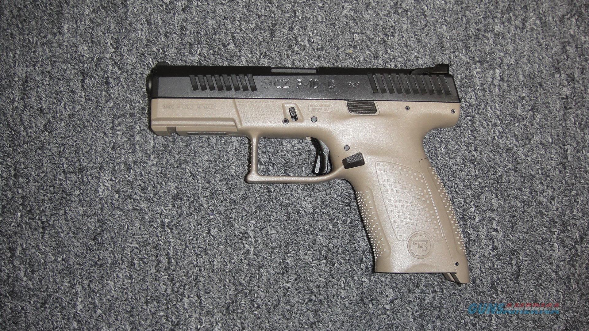 CZ P-10C FDE & Black 9mm  Guns > Pistols > CZ Pistols
