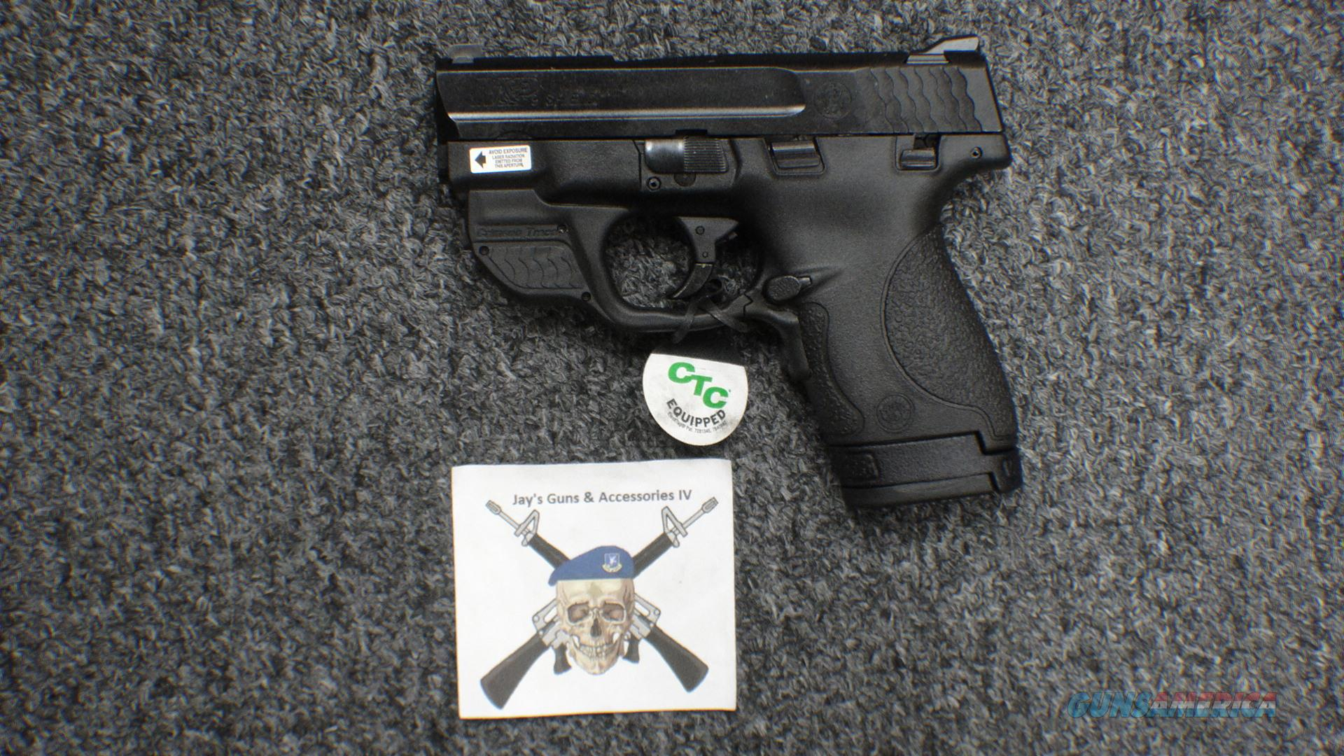 Smith & Wesson M&P9 Shield 9mm (with green Crimson Trace laser)  Guns > Pistols > Smith & Wesson Pistols - Autos > Shield