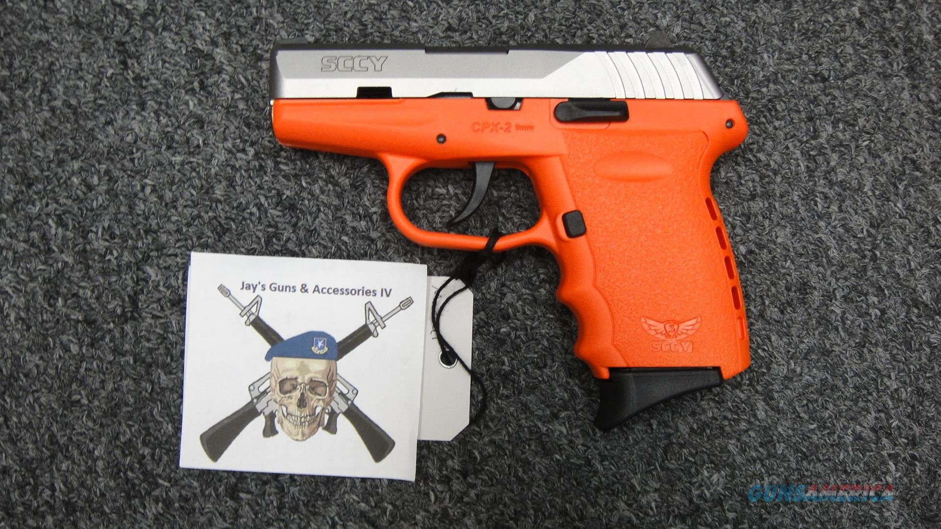 SCCY CPX-2 9mm Safety Orange  Guns > Pistols > SCCY Pistols > CPX2