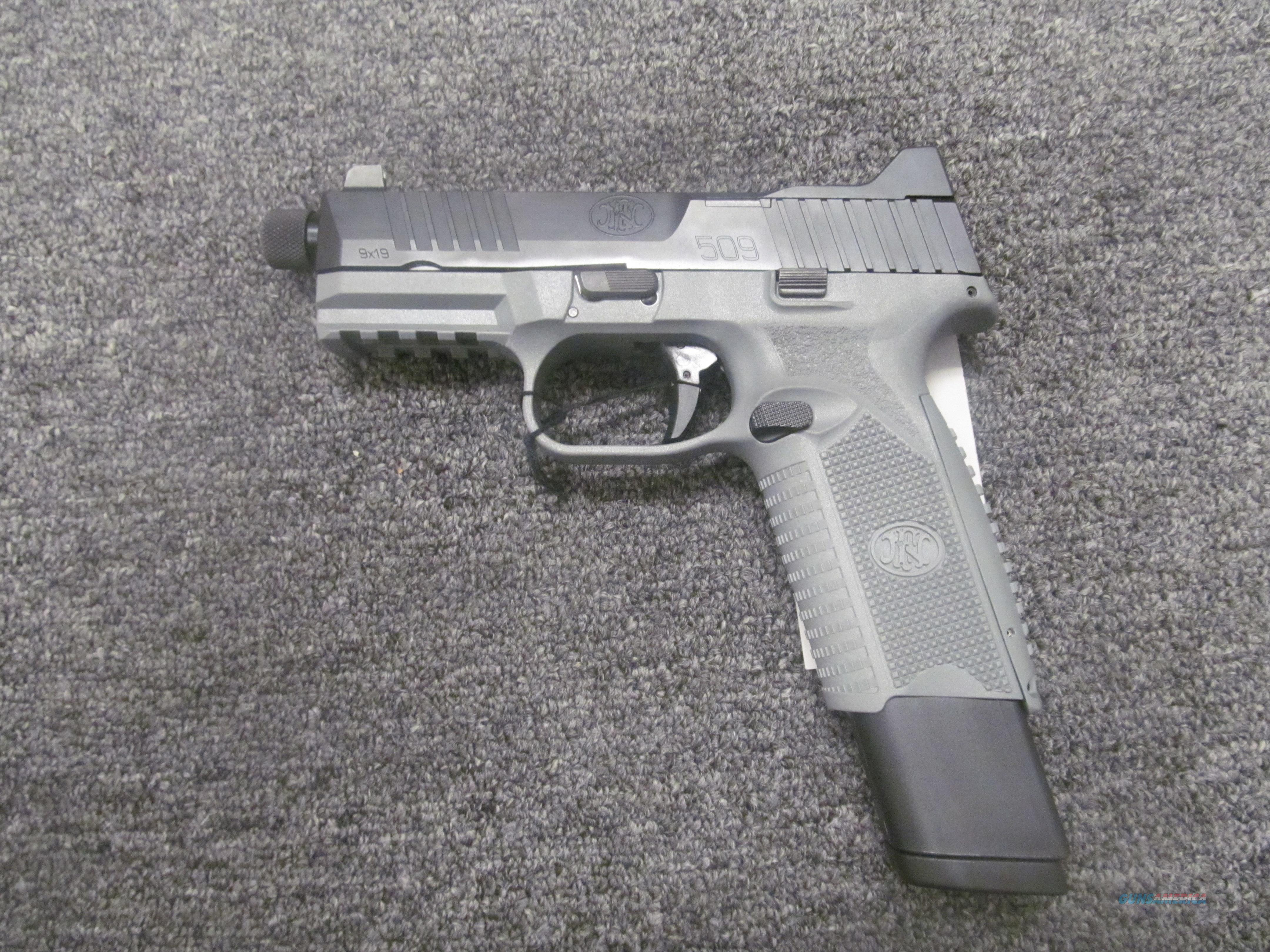 FN 509 Tactical (66-100596) w/Grey Frame  Guns > Pistols > FNH - Fabrique Nationale (FN) Pistols > FN 509