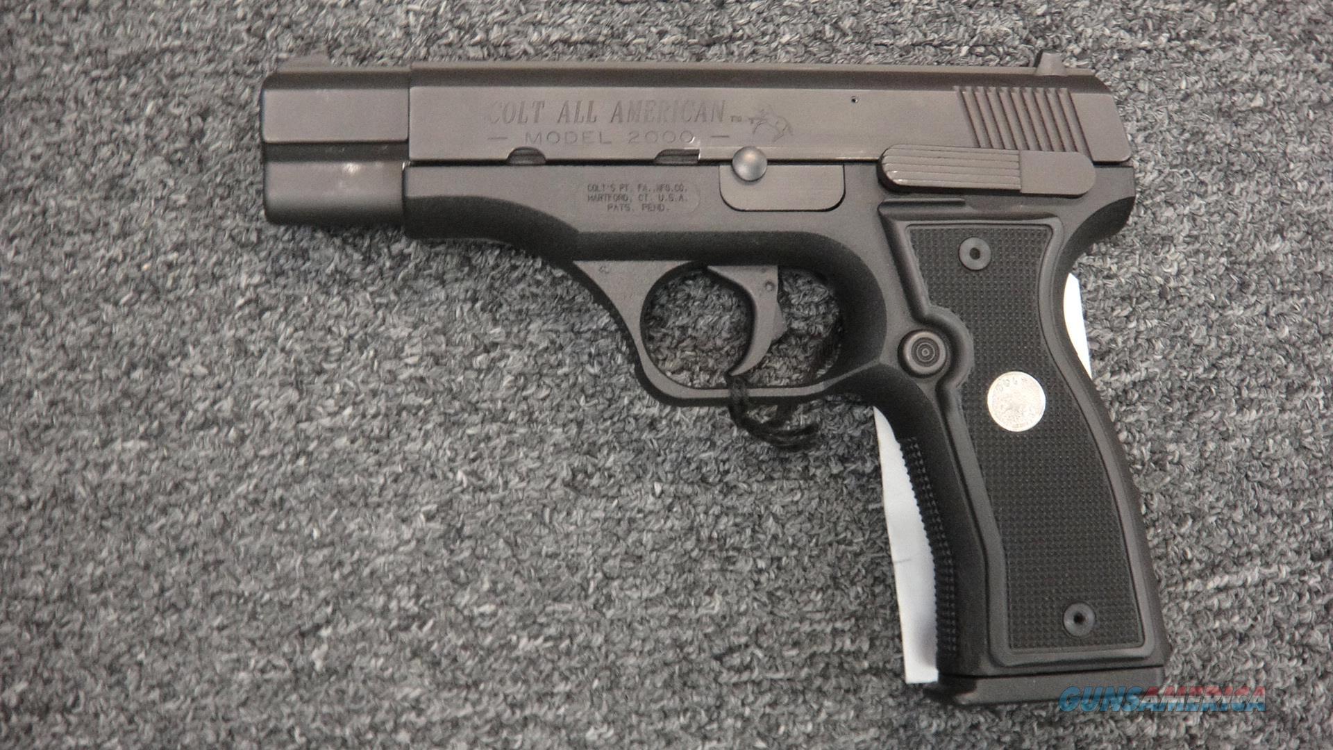 Colt American 2000 9mm  Guns > Pistols > Colt Automatic Pistols (.25, .32, & .380 cal)