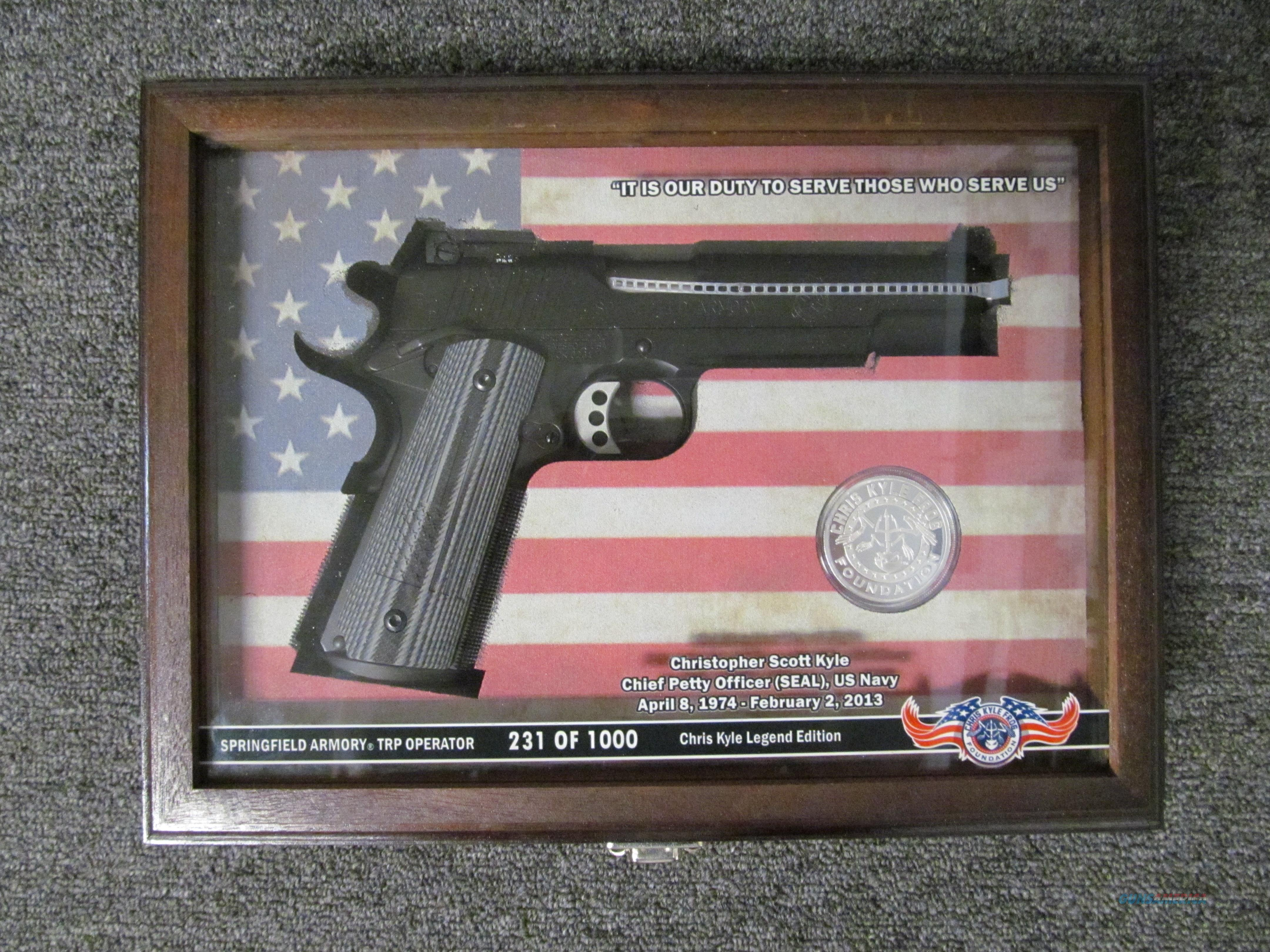Springfield Armory Chris Kyle TRP Operator #231 of 1,000 Special Edition  Guns > Pistols > Springfield Armory Pistols > 1911 Type