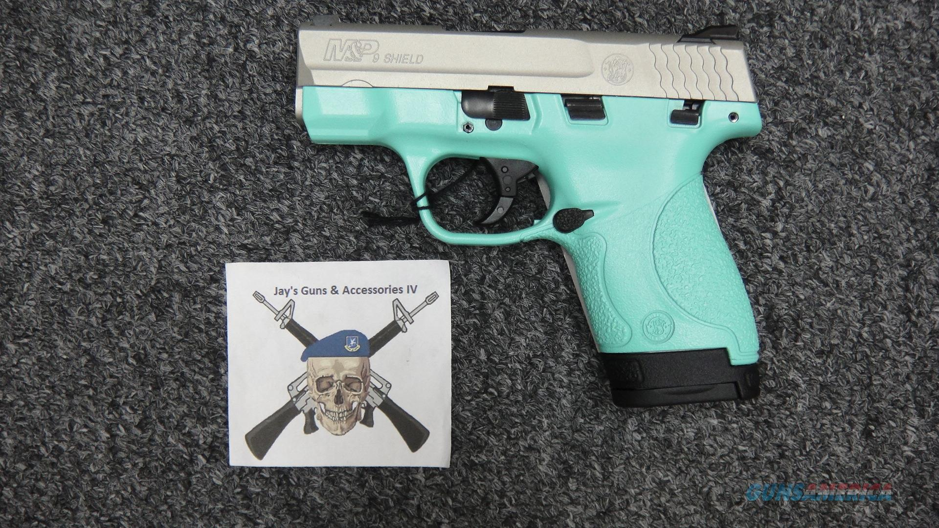 Smith & Wesson M&P9 Shield W/Thumb Safety 9mm (robin's egg blue)  Guns > Pistols > Smith & Wesson Pistols - Autos > Polymer Frame