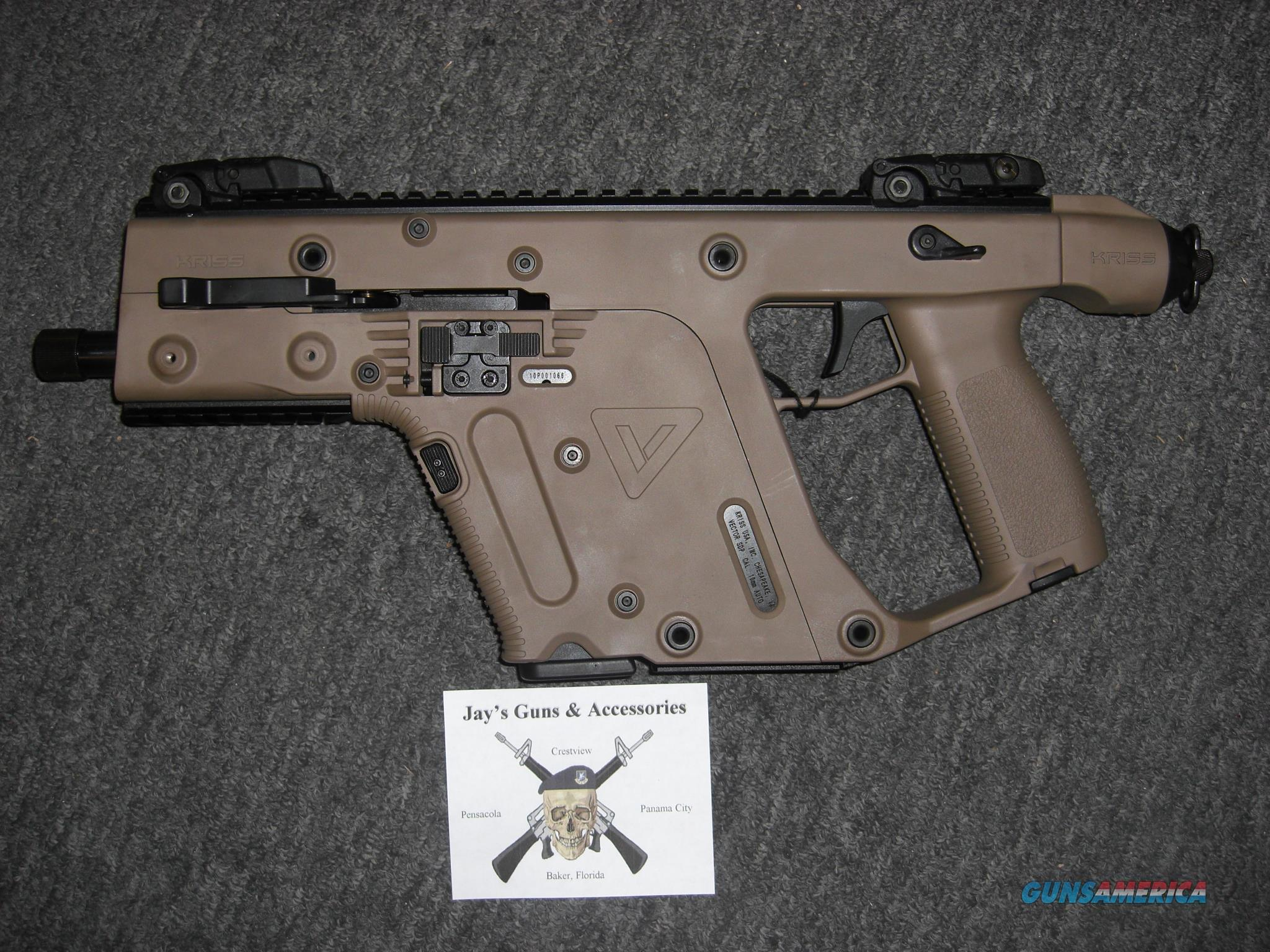 Kriss Vector SDP G2 (Takes Glock 20 Mags) w/FDE Finish in 10mm  Guns > Pistols > Kriss Tactical Pistols