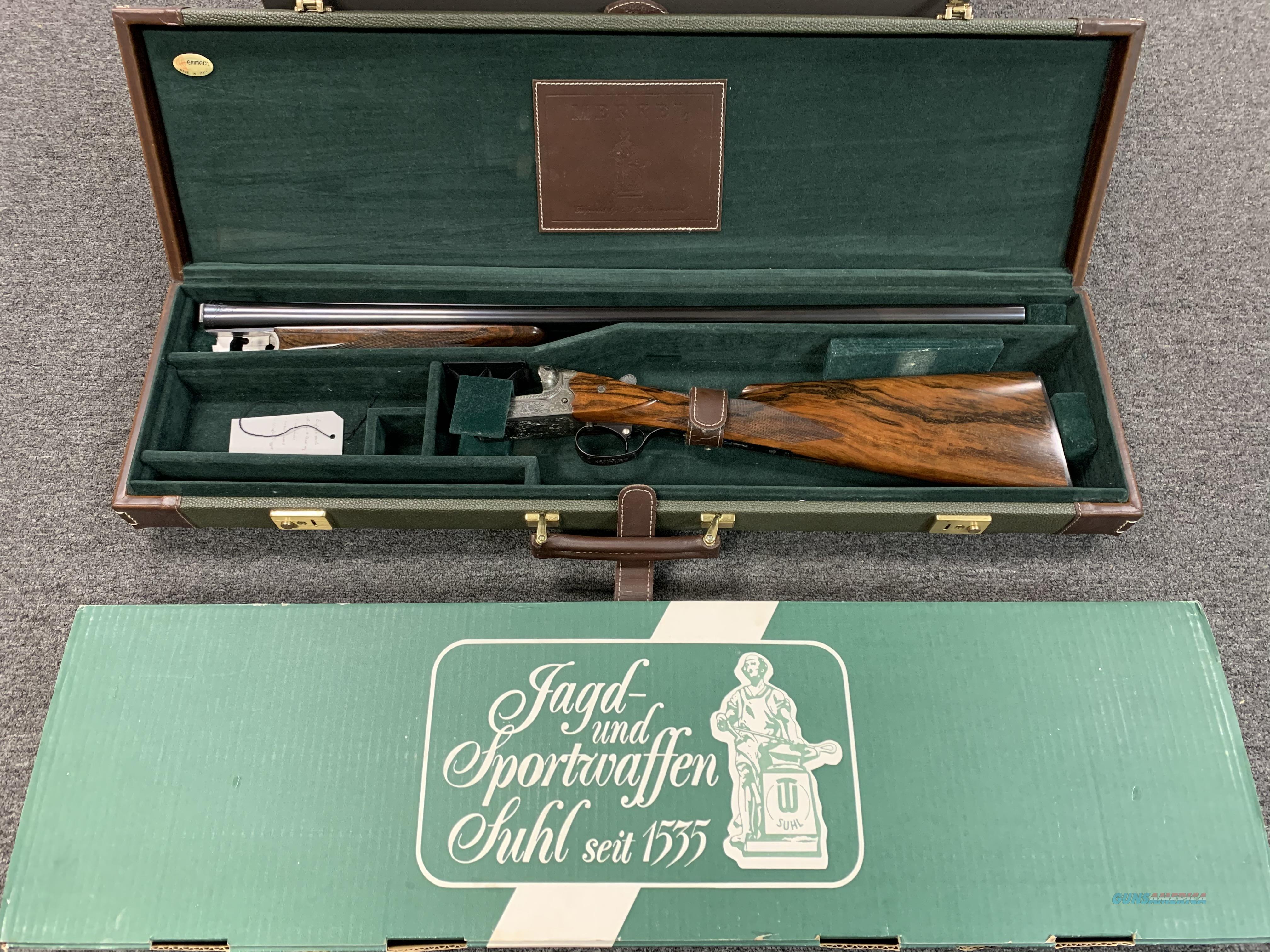 Merkel 147EL SXS Engraved 12ga (used)  Guns > Shotguns > Merkel Shotguns