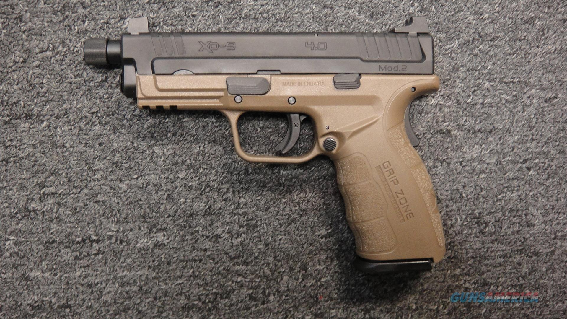 Springfield Armory XD-9 Mod 2 FDE Threaded (used)  Guns > Pistols > Springfield Armory Pistols > XD-Mod.2