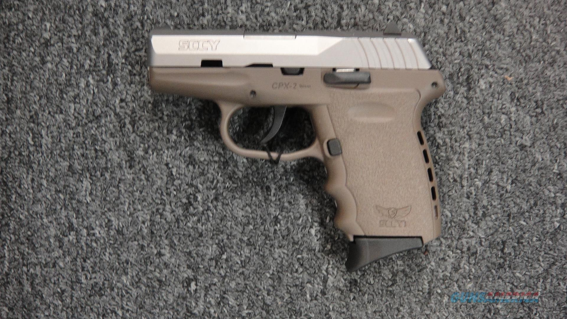 SCCY CPX2 Stainless/FDE  Guns > Pistols > SCCY Pistols > CPX2