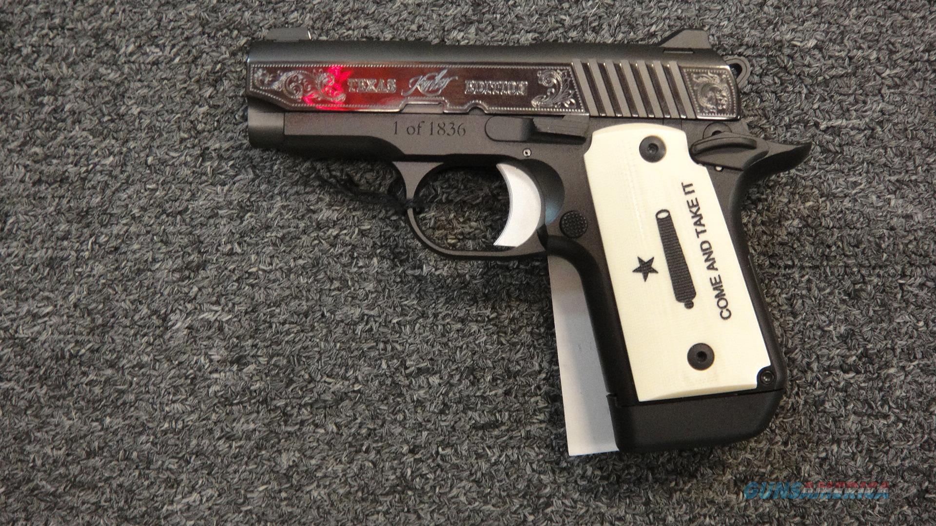 Kimber Micro 9 Texas Edition 1 of 1836  Guns > Pistols > Kimber of America Pistols > Micro 9