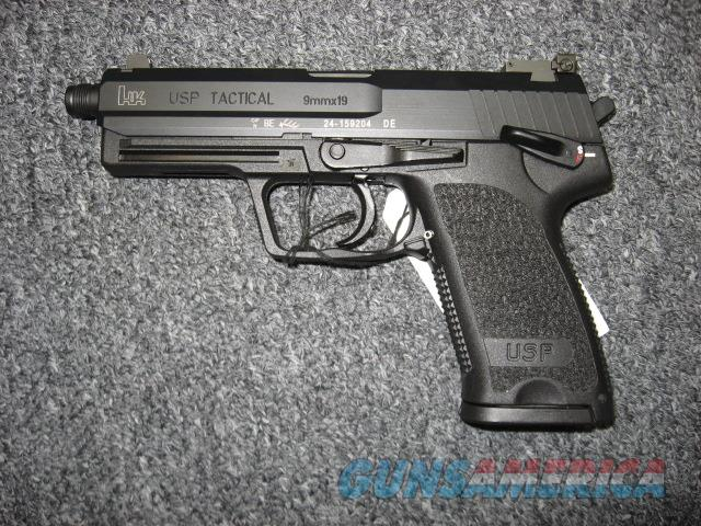 Heckler & Koch USP 9 Tactical w/ Threaded barrel & Suppressor height night sights  Guns > Pistols > Heckler & Koch Pistols > Polymer Frame