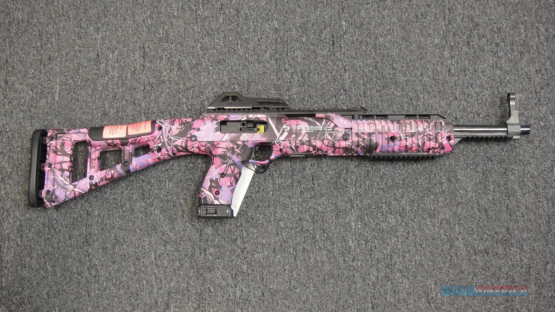 Hi-Point Firearms 4595 Pink Camo .45 ACP Carbine  Guns > Rifles > Hi Point Rifles