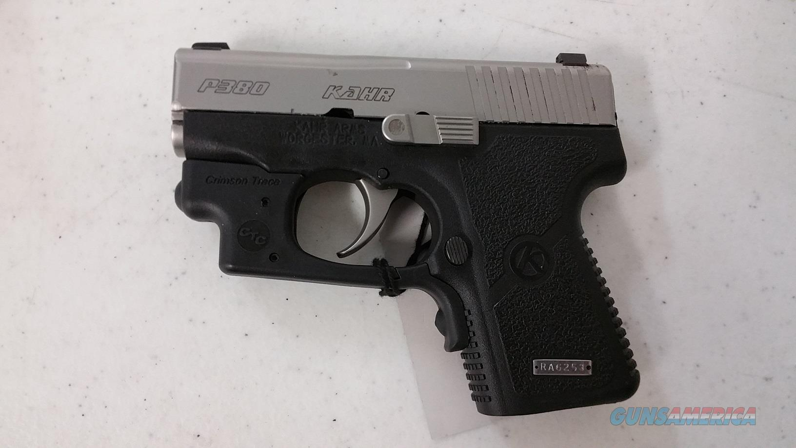 Kahr P380 Stainless with Crimson Trace red laser and night sights  Guns > Pistols > Kahr Pistols