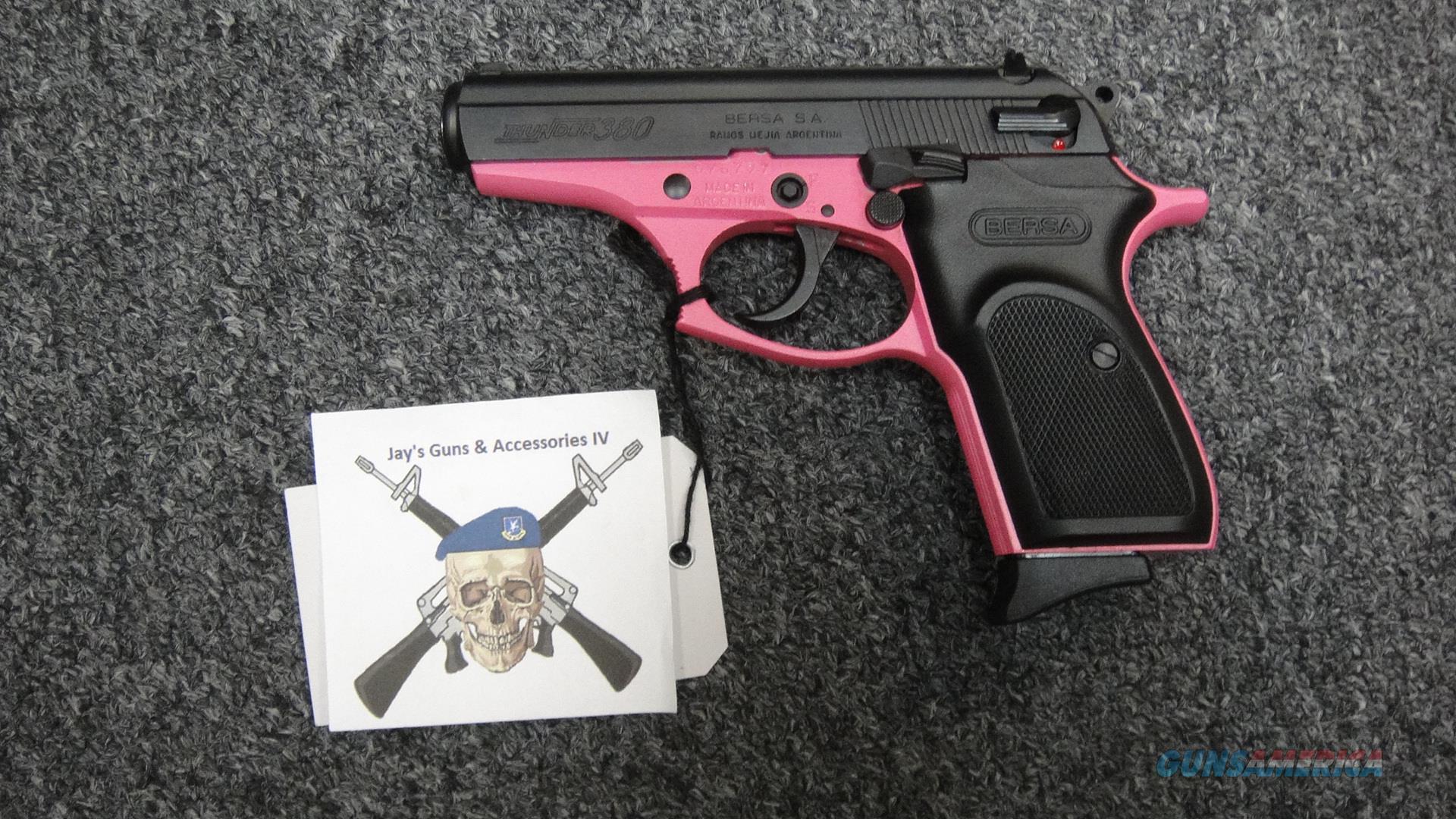 Bersa Thunder 380 Pink .380ACP  Guns > Pistols > Bersa Pistols