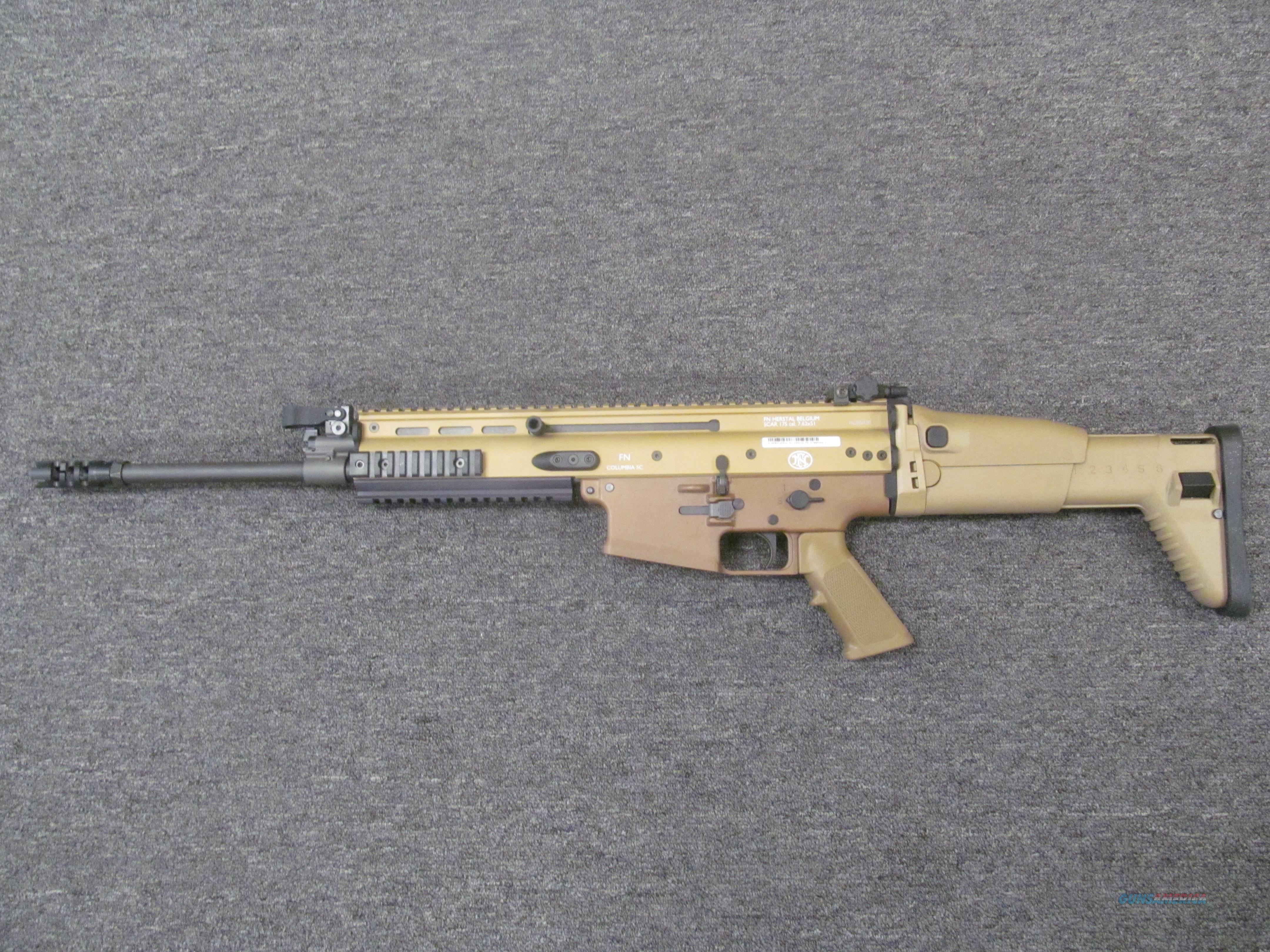 FNH SCAR 17S w/FDE Finish  Guns > Rifles > FNH - Fabrique Nationale (FN) Rifles > Semi-auto > SCAR