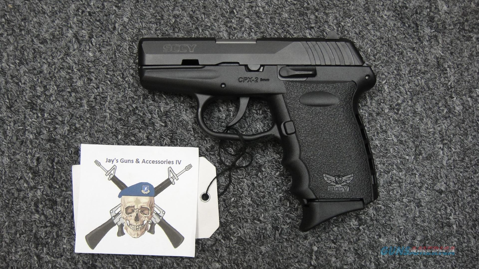 SCCY CPX2 9mm Black  Guns > Pistols > SCCY Pistols > CPX2