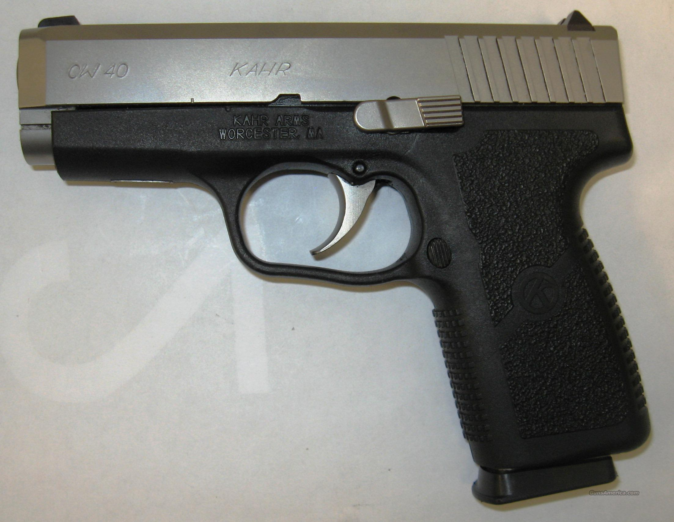 Kahr CW40 Two-tone USED  Guns > Pistols > Kahr Pistols