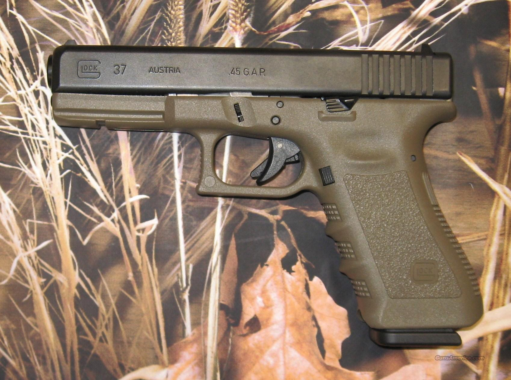 Glock 37 Black/OD green .45 GAP Used  Guns > Pistols > Glock Pistols > 38/39