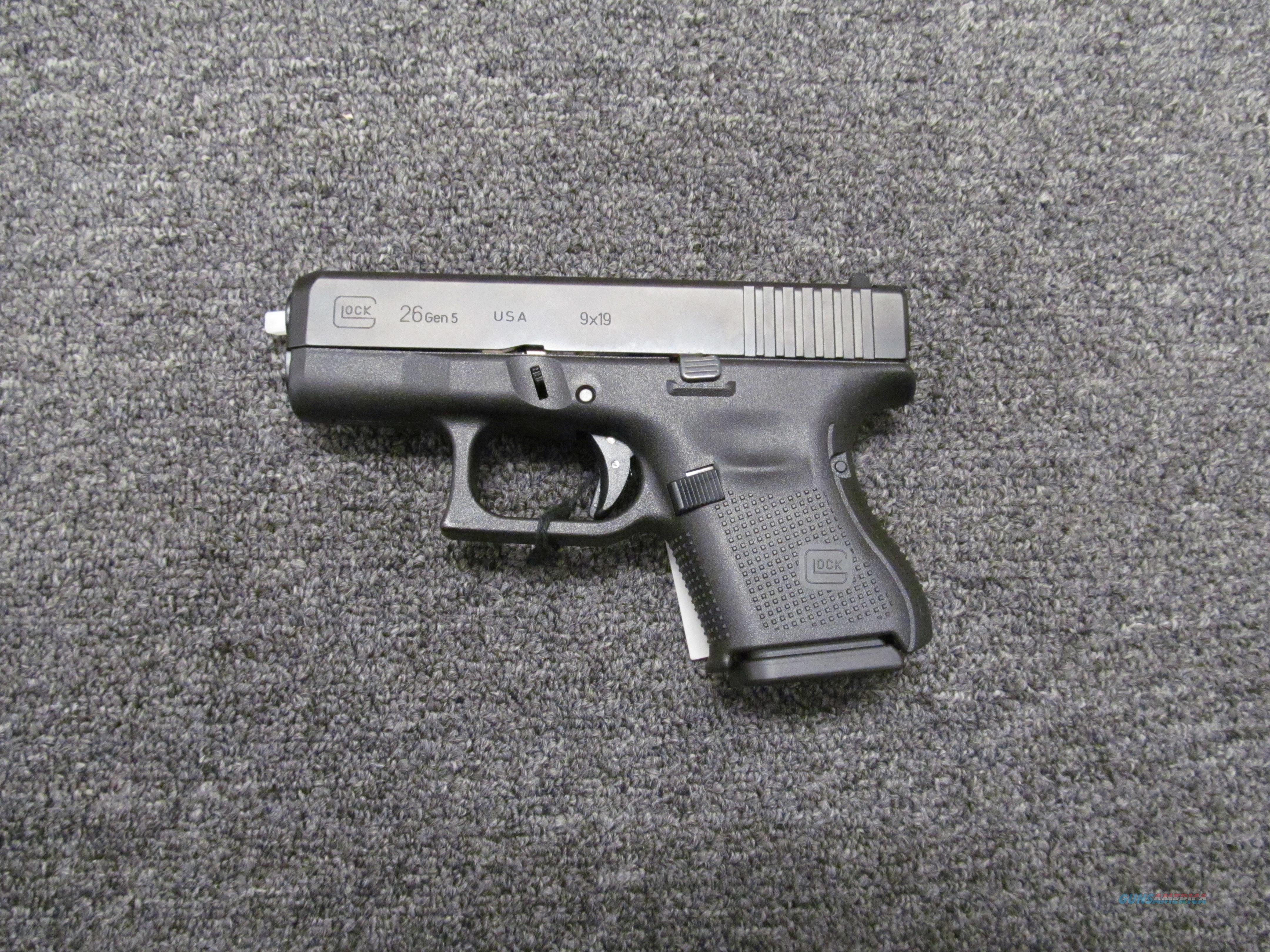Glock 26 Gen 5 (UA2650201)  Guns > Pistols > Glock Pistols > 26/27