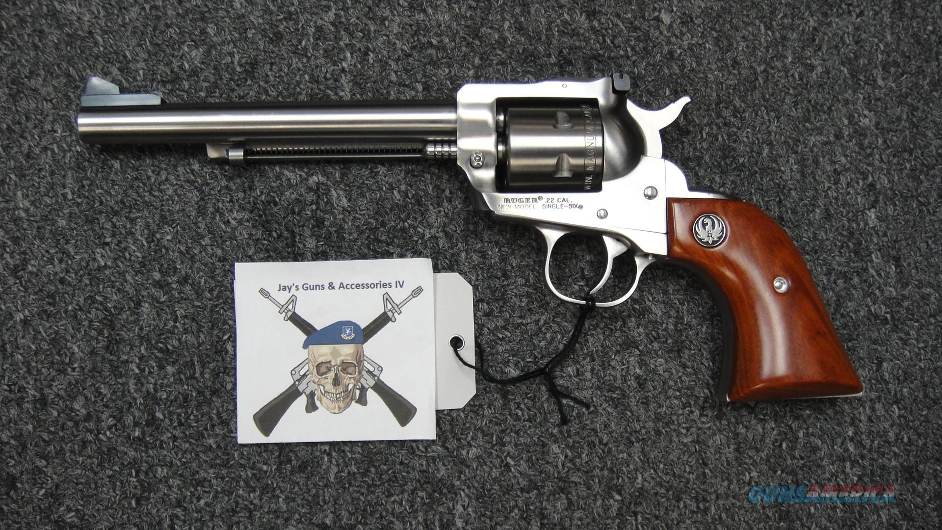"""Ruger Single Six .22LR/.22 mag--6.5"""" Stainless  Guns > Pistols > Ruger Single Action Revolvers > Single Six Type"""