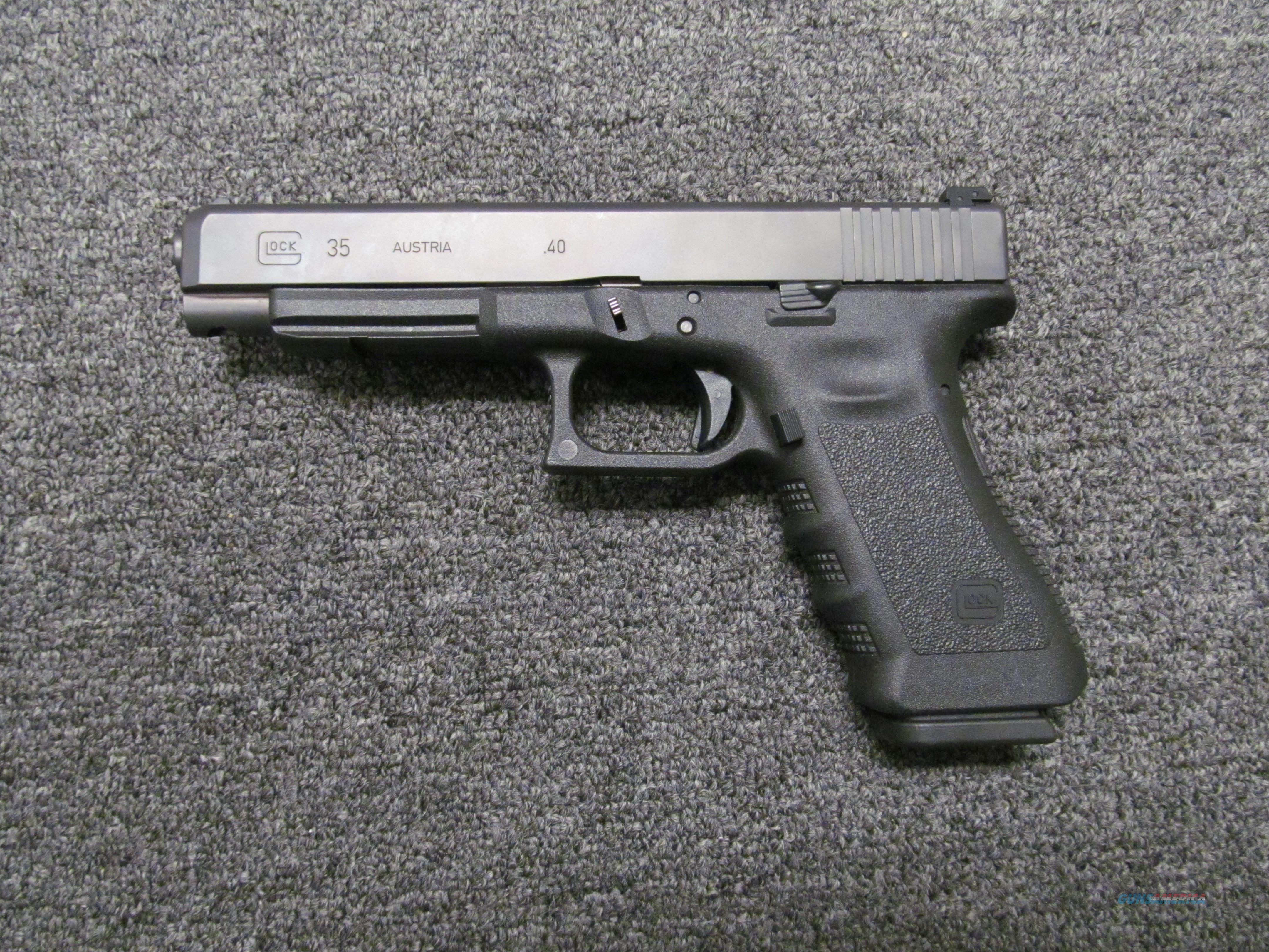 Glock 35 w/Internal LaserMax red dot laser .40 S&W  Guns > Pistols > Glock Pistols > 35