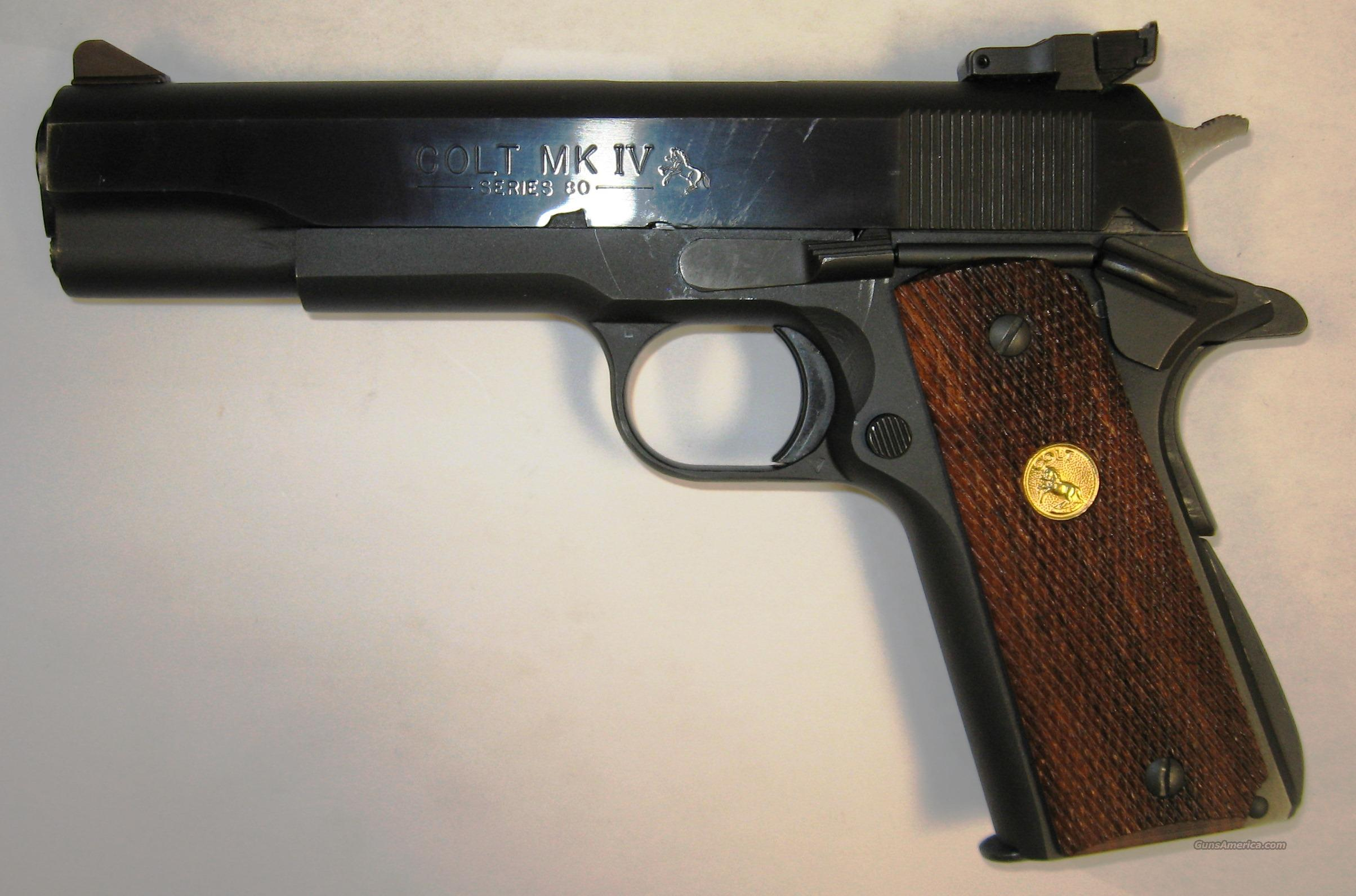 Colt MKIV Series 80 Government Model 9MM USED   Guns > Pistols > Colt Automatic Pistols (1911 & Var)