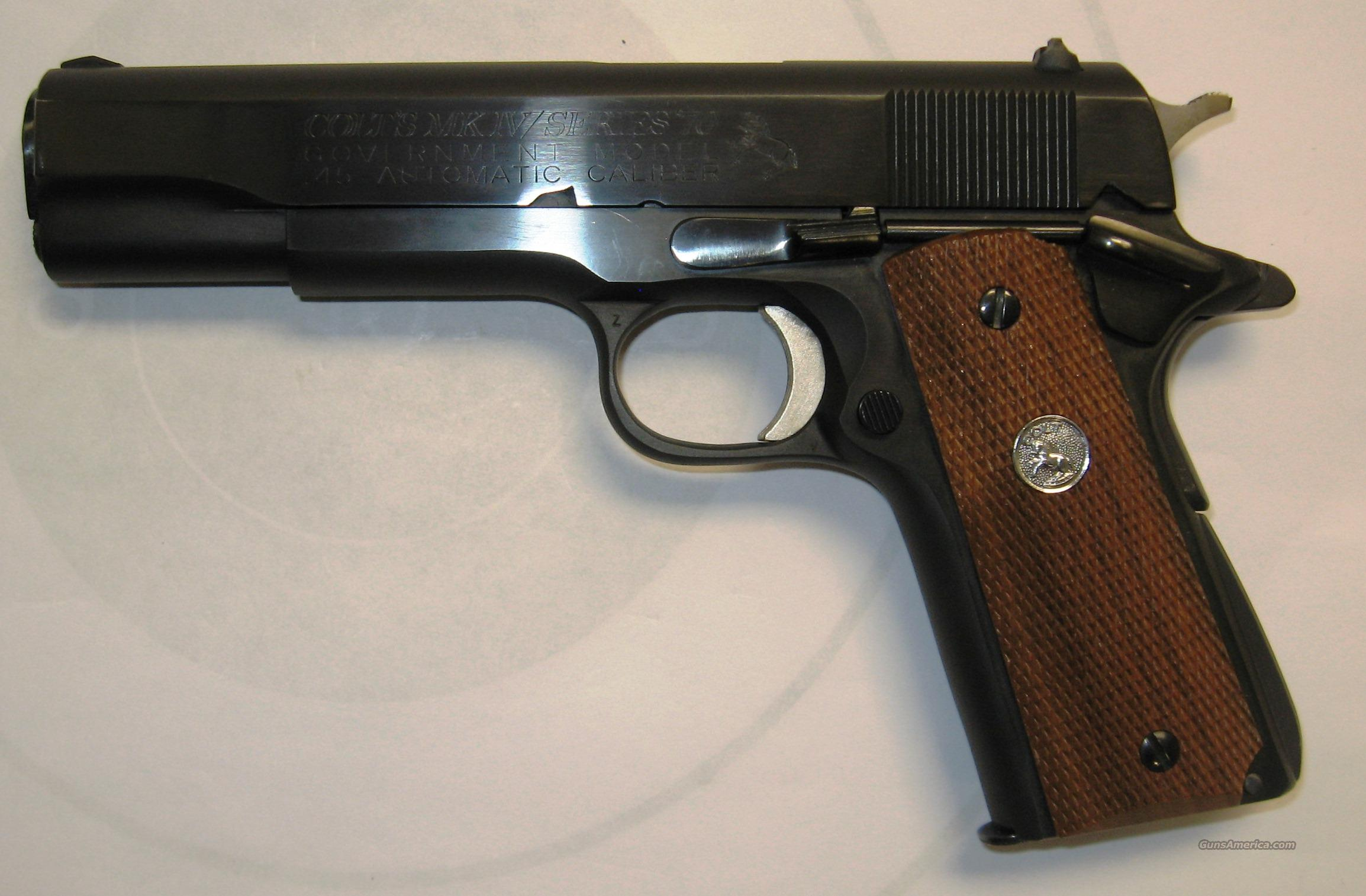 Colt MKIV Series 70 Government Model USED  Guns > Pistols > Colt Automatic Pistols (1911 & Var)