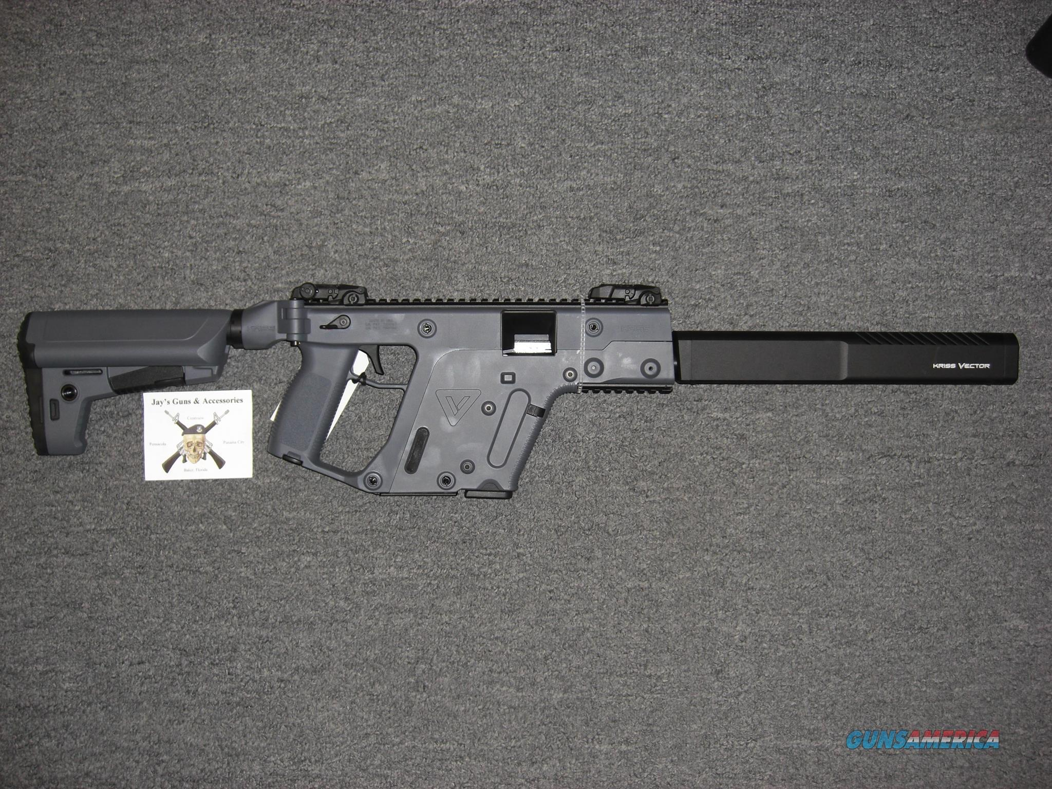 Kriss Vector CRB Gen 2 w/Combat Grey Finish Uses Glock 21 Mags  Guns > Rifles > Kriss Tactical Rifles