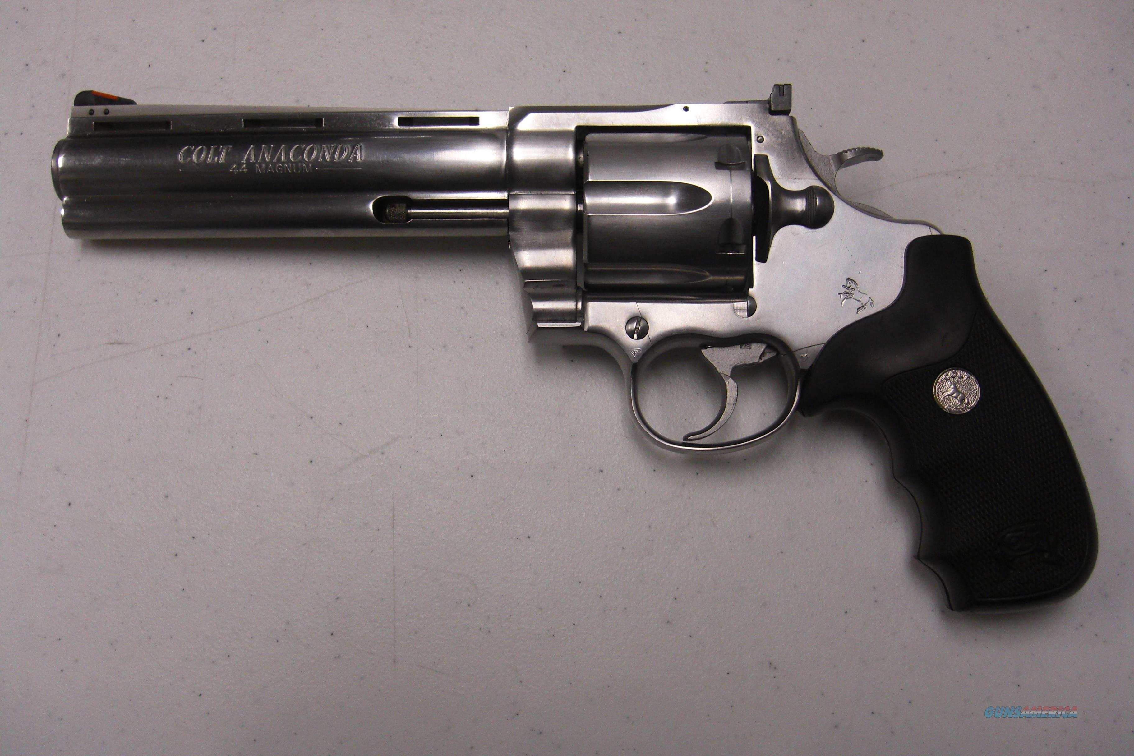 Colt Anaconda  all stainless, unfired  Guns > Pistols > Colt Double Action Revolvers- Modern