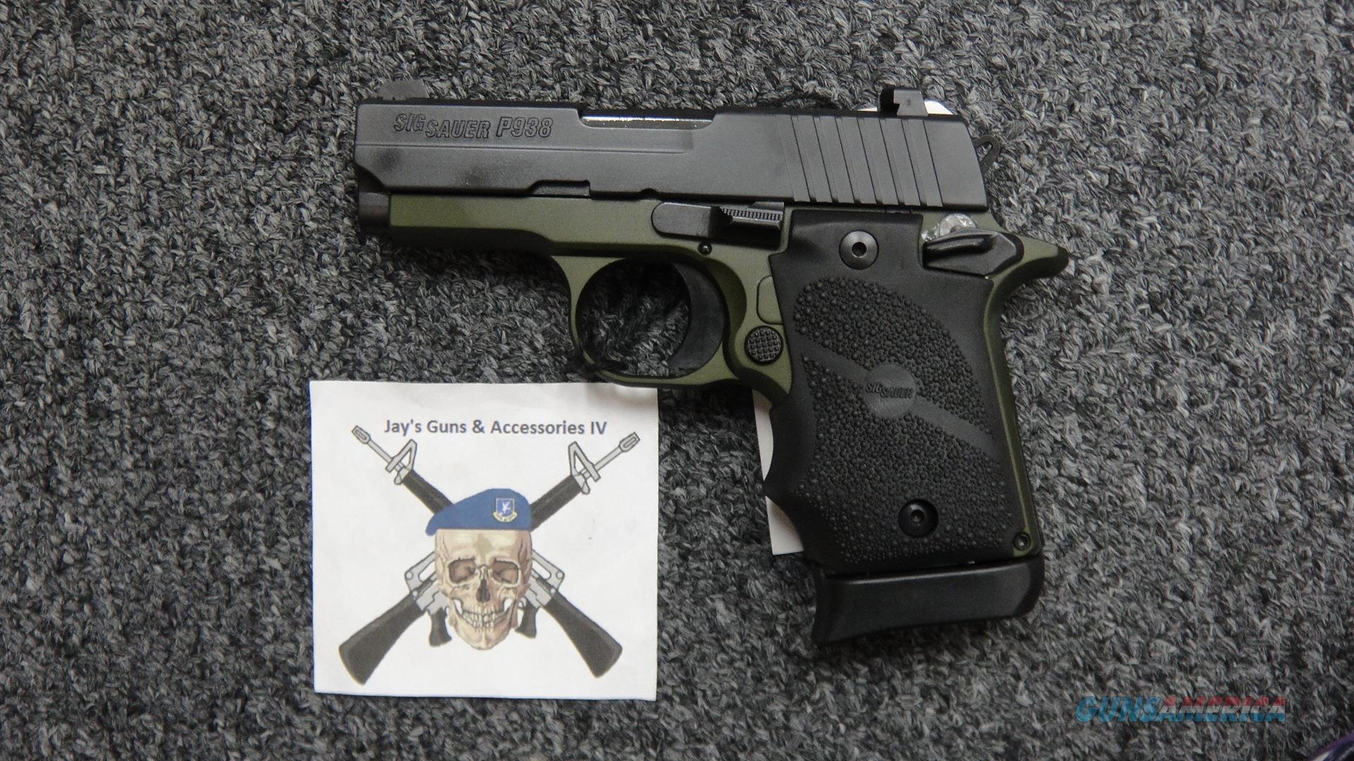 Sig Sauer P938 (938-9-AGF-AMBI) w/Green & Black Finish  Guns > Pistols > Sig - Sauer/Sigarms Pistols > P938