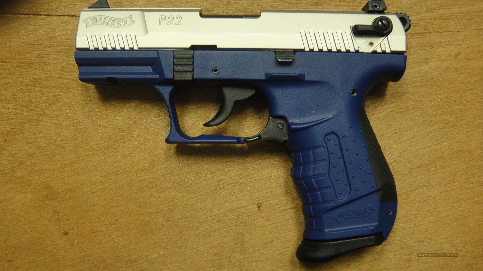 Used Walther P22 Blue  Guns > Pistols > Walther Pistols > Post WWII > P22