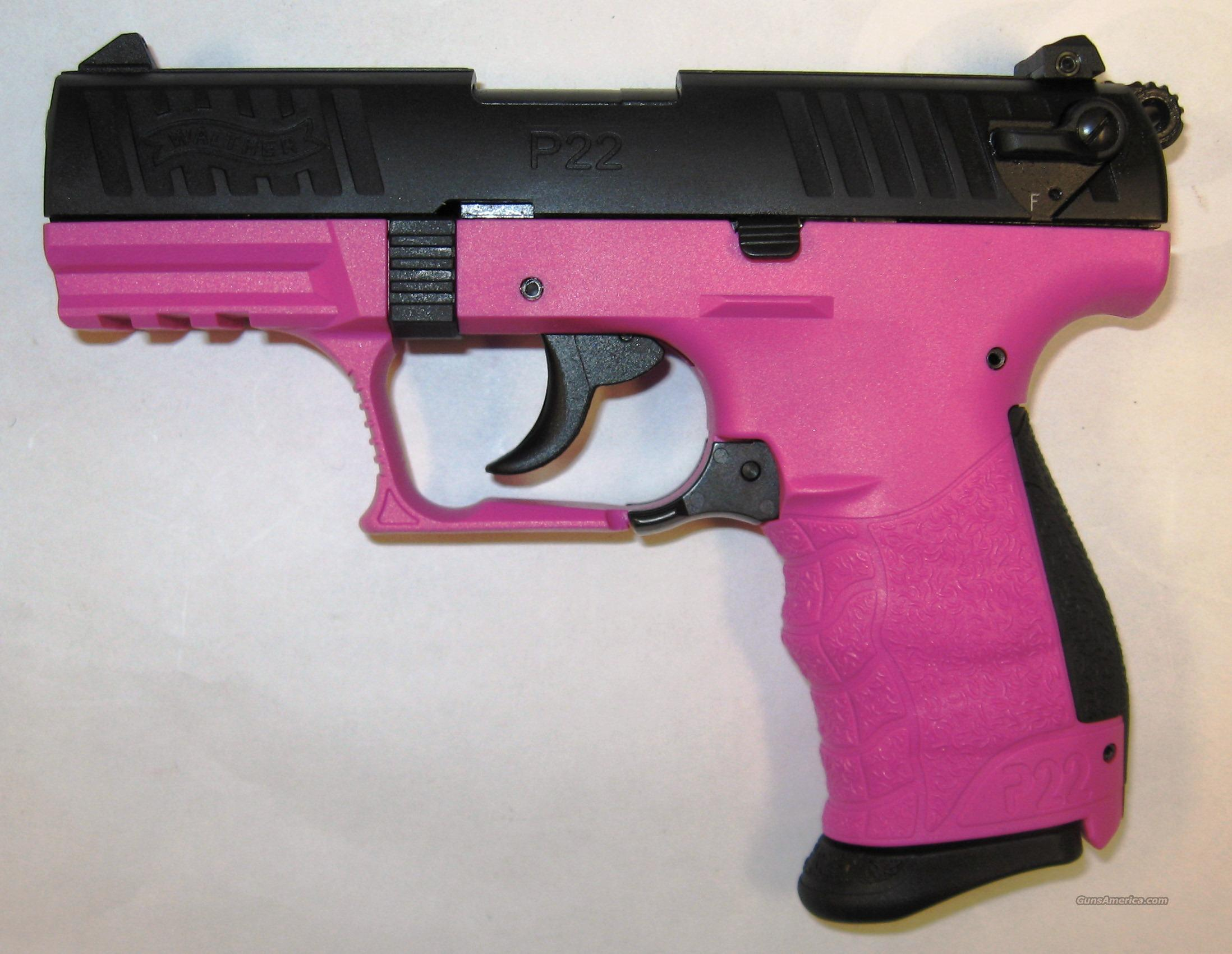Walther P22 Pink & Black  Guns > Pistols > Walther Pistols > Post WWII > P22