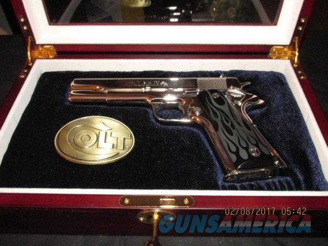 COLT Government MK IV .45 ACP Bright MIRROR Polished Custom case L@@K GREAT !!!  Guns > Pistols > Colt Automatic Pistols (1911 & Var)