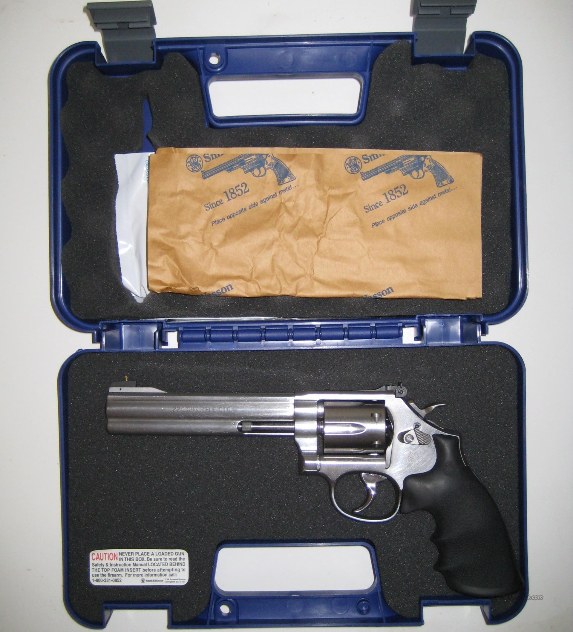 "S&W M-617 6"" .22 LR 6 Shot Full   Guns > Pistols > Smith & Wesson Revolvers > Full Frame Revolver"