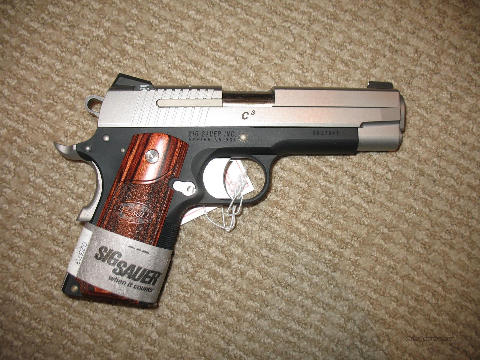 SIG Sauer 1911 C3 .45 ACP Two-Tone SLITE w/ (2) 7rd Magazines  Guns > Pistols > Sig - Sauer/Sigarms Pistols > 1911