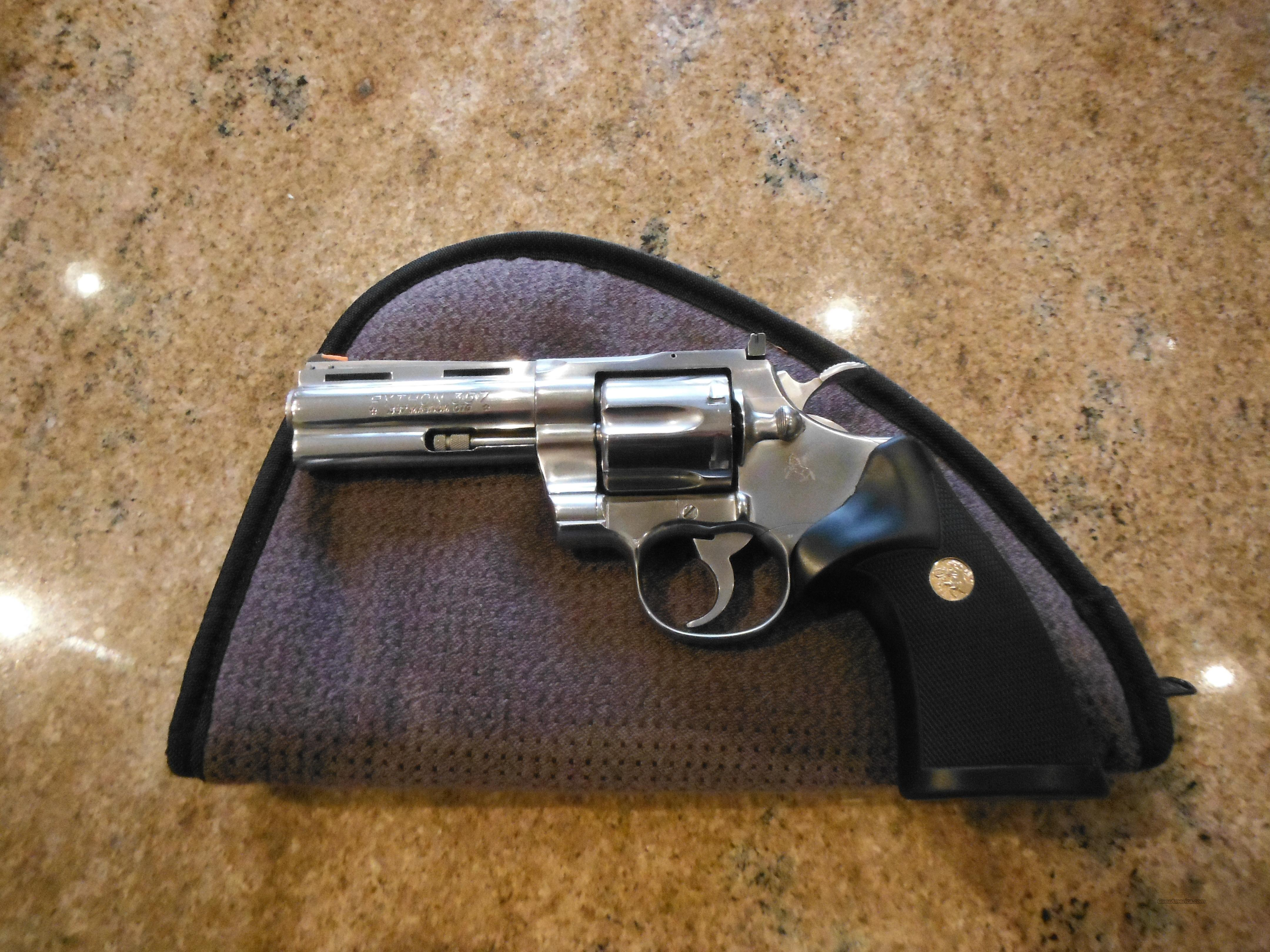 "Colt Python 4"" .357 Magnun Stainless Steel  Guns > Pistols > Colt Double Action Revolvers- Modern"