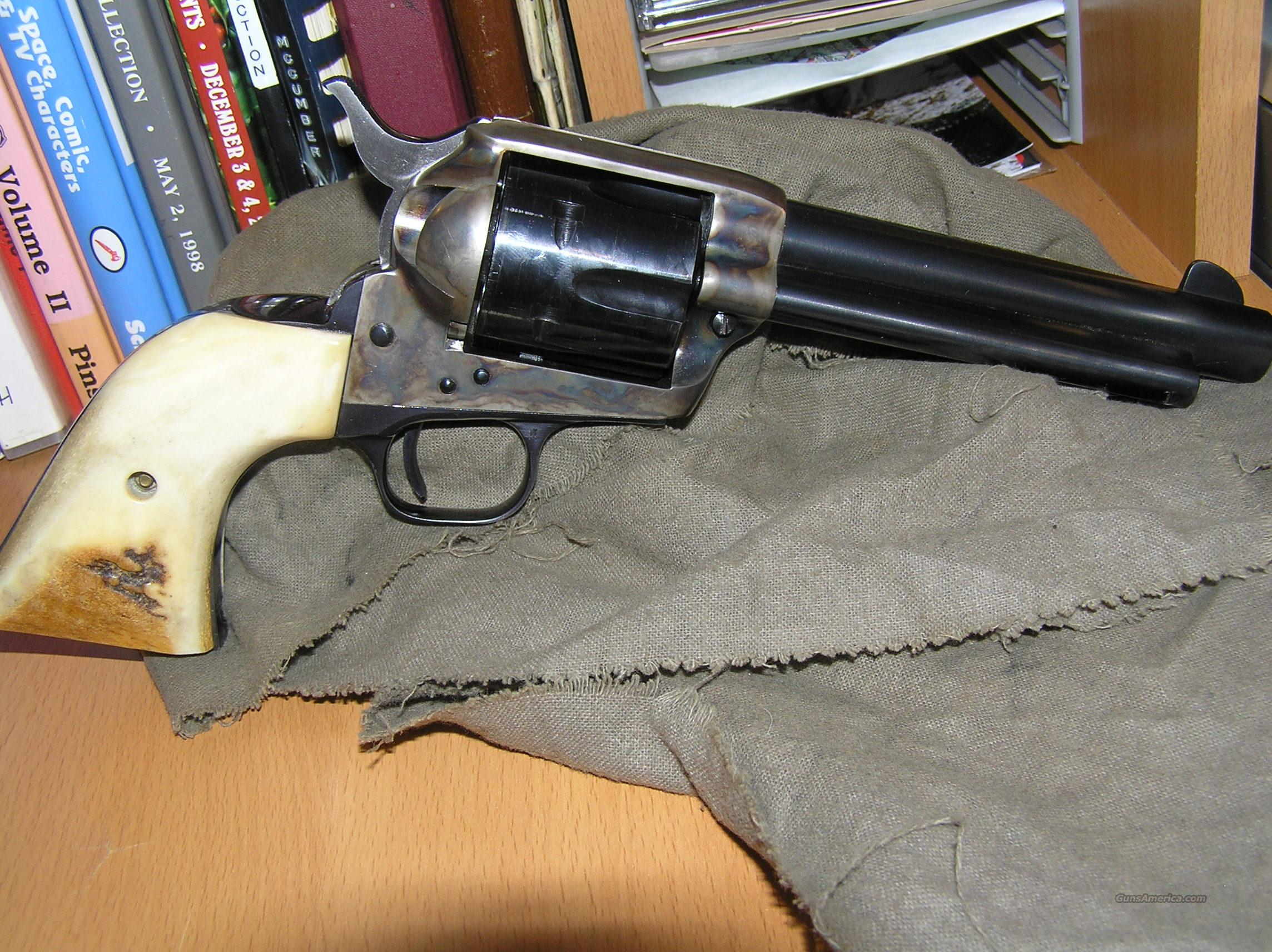 Colt SAA 2nd Generation:45LC-Stags  Guns > Pistols > Colt Single Action Revolvers - 2nd Gen.